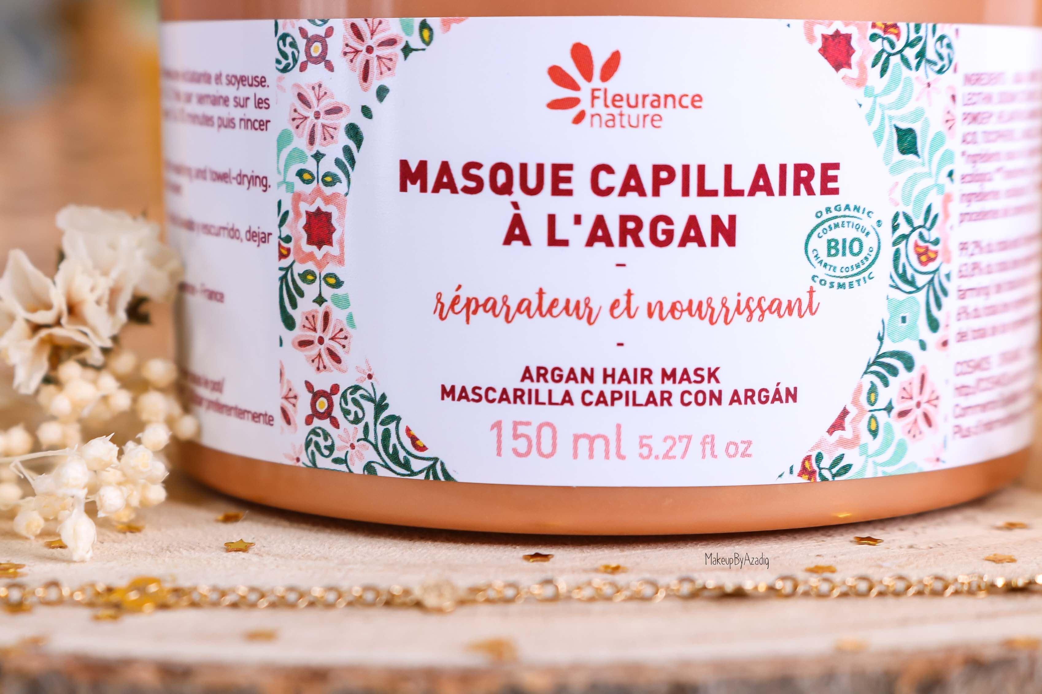 revue-masque-cheveux-capillaire-argan-reparateur-nourrissant-fleurance-nature-makeupbyazadig-bio-soin-avis-prix-resultat-quantite