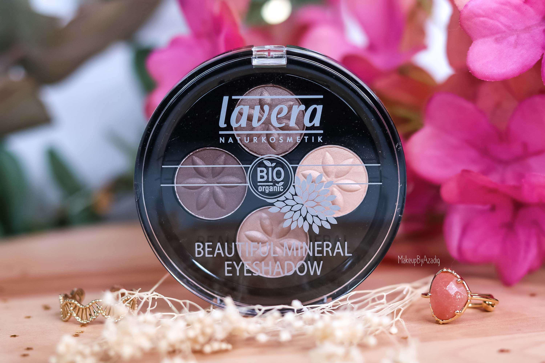 revue-maquillage-bio-naturel-certifie-vegan-lavera-makeupbyazadig-avis-prix-swatch-mascara-rouge-levres-palette-blush-eyeshadow