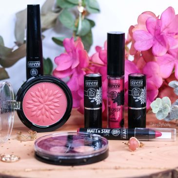 revue-maquillage-bio-naturel-certifie-vegan-lavera-makeupbyazadig-avis-prix-swatch-mascara-rouge-levres-palette-blush-miniature