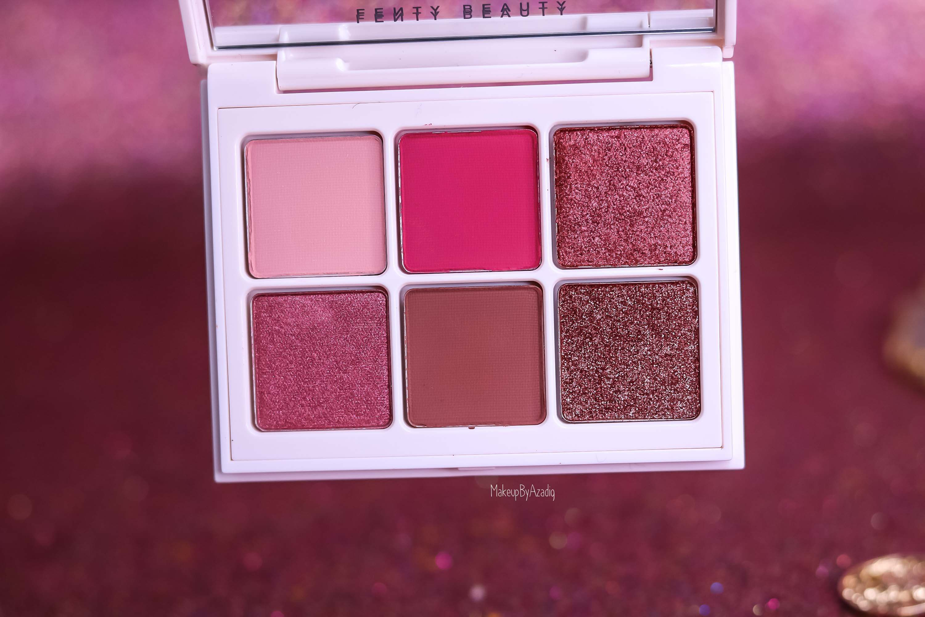 revue-palette-snap-shadows-4-fenty-beauty-rihanna-eyeshadow-rose-makeupbyazadig-avis-prix-swatch-sephora-fards