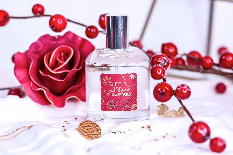 revue-parfum-bio-eau-coursiana-fleurance-nature-organic-cosmetic-makeupbyazadig-avis-prix-promo-packaging