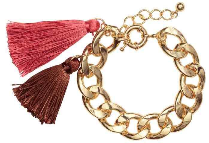 bracelet pompons h&m - makeupbyazadig