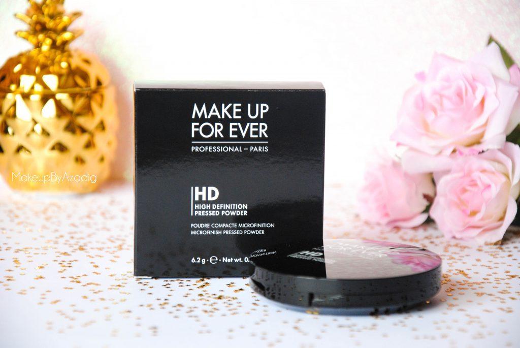 make up for ever - poudre compacte hd - poudre matifiante - sephora - makeupbyazadig - ensemble