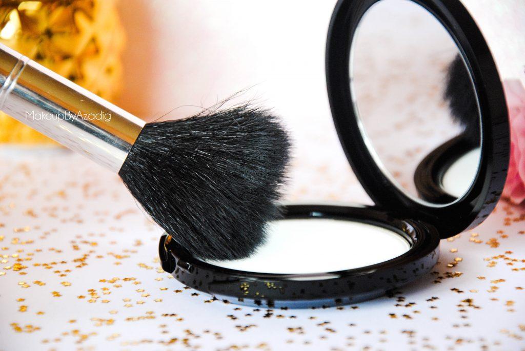 make up for ever - poudre compacte hd - poudre matifiante - sephora - makeupbyazadig - pinceau