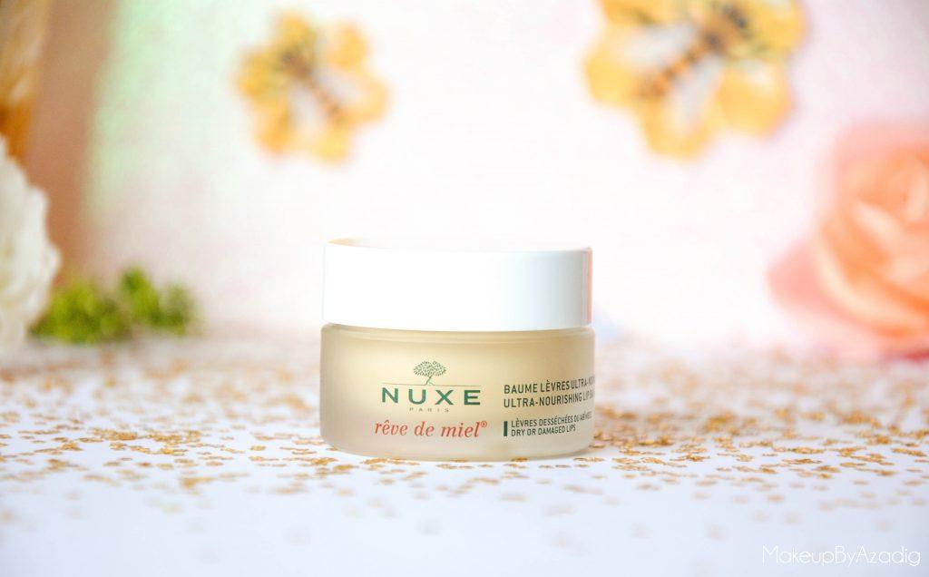 makeupbyazadig-reve de miel - nuxe - doctipharma - baume a levres-parapharmacie en ligne - nourrissant