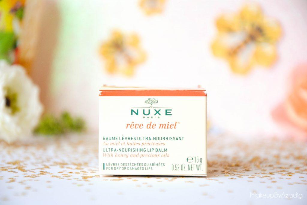 makeupbyazadig-reve de miel - nuxe - doctipharma - baume a levres-parapharmacie en ligne - packaging