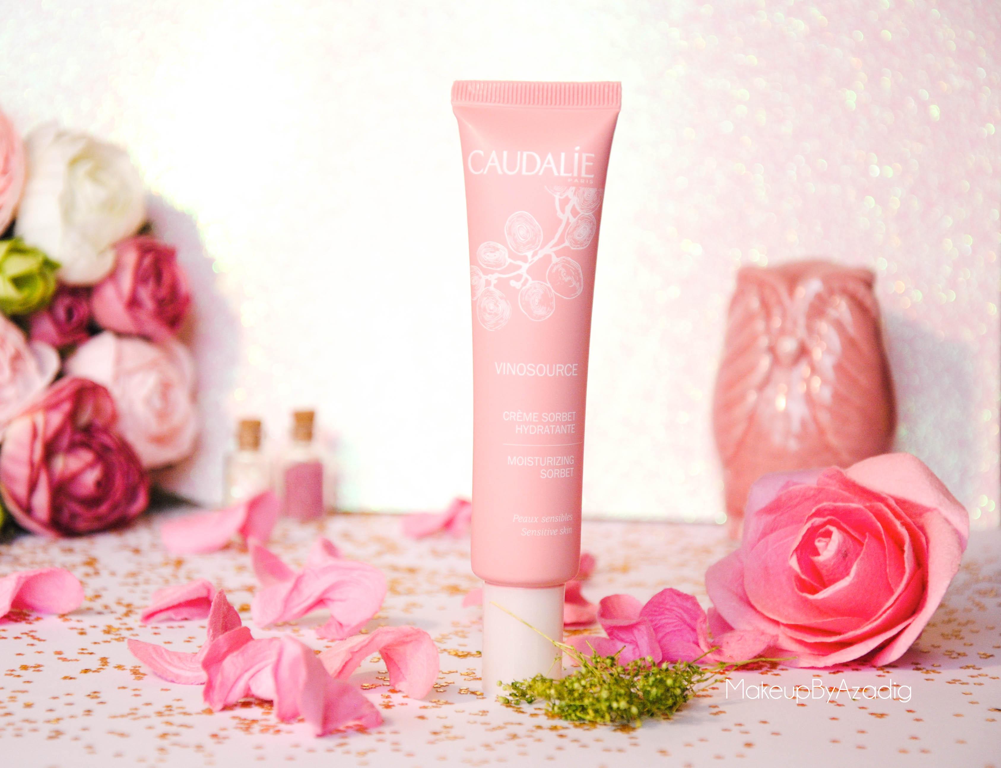 creme hydratante vinosource caudalie avis revue doctipharma makeupbyazadig rose