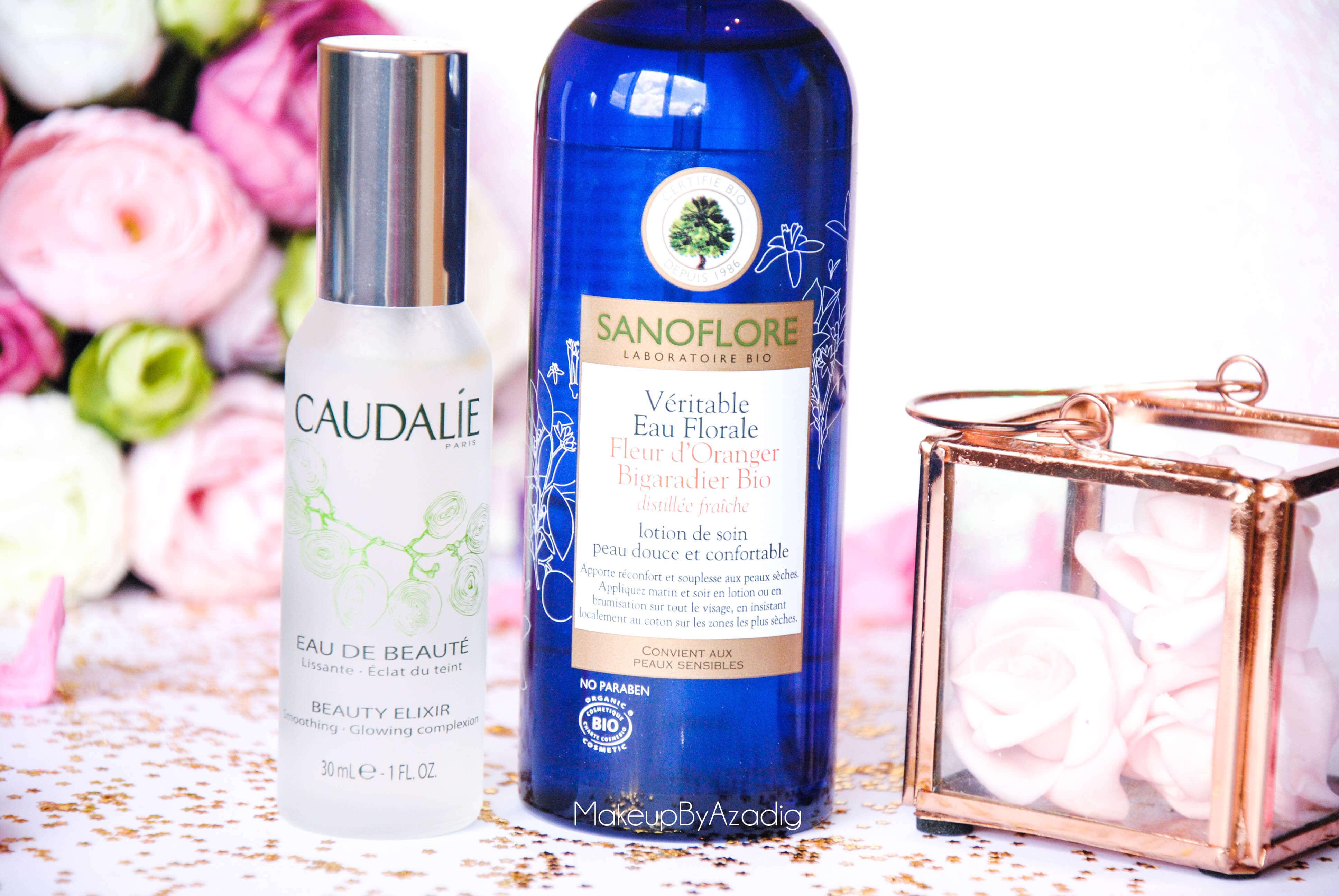 eau de beaute - caudalie - sanoflore - eau florale - produits de parapharmacie - makeupbyazadig - blog troyes - doctipharma -