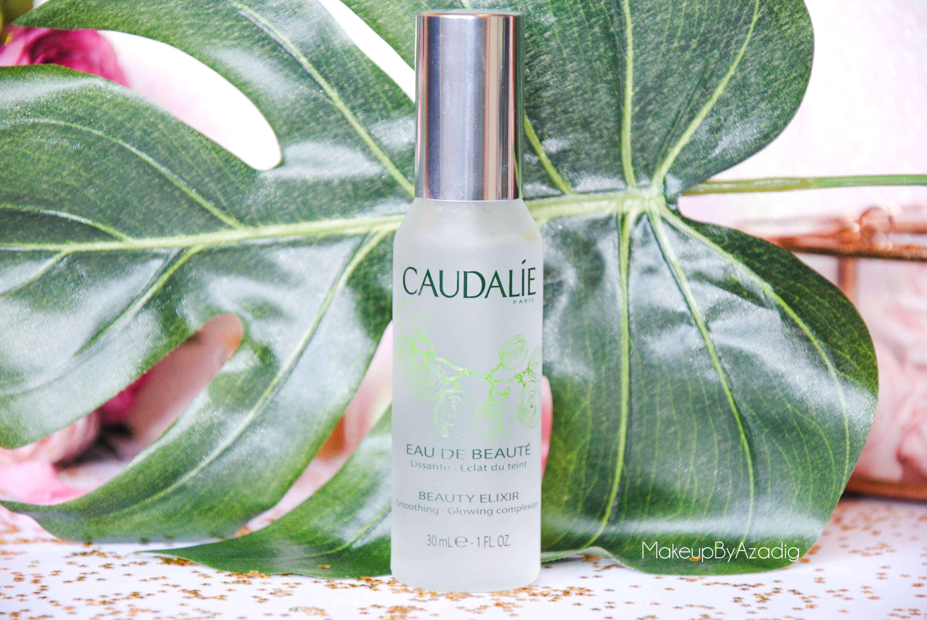 eau de beaute - caudalie - sanoflore - eau florale - produits de parapharmacie - makeupbyazadig - blog troyes - feuille
