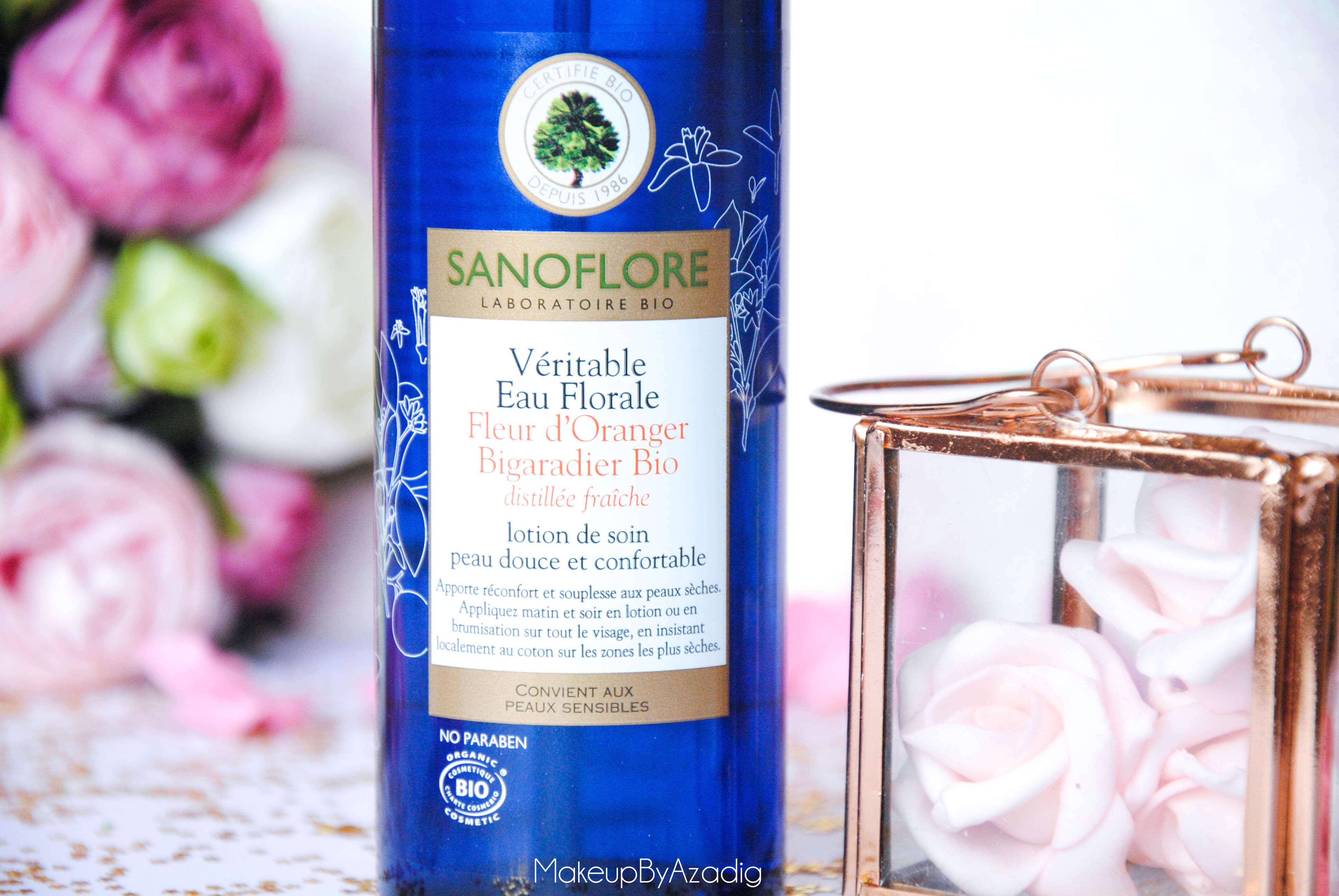 eau de beaute - caudalie - sanoflore - eau florale - produits de parapharmacie - makeupbyazadig - blog troyes - fleur d'oranger