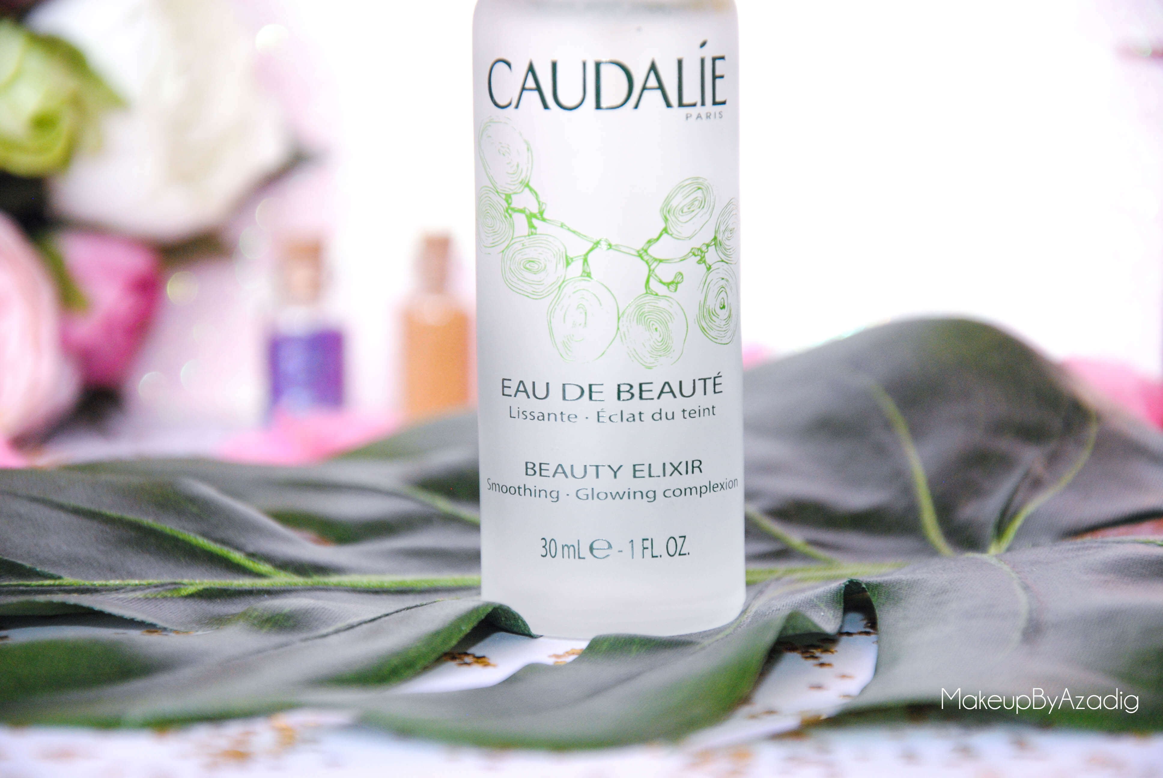 eau de beaute - caudalie - sanoflore - eau florale - produits de parapharmacie - makeupbyazadig - blog troyes - teint