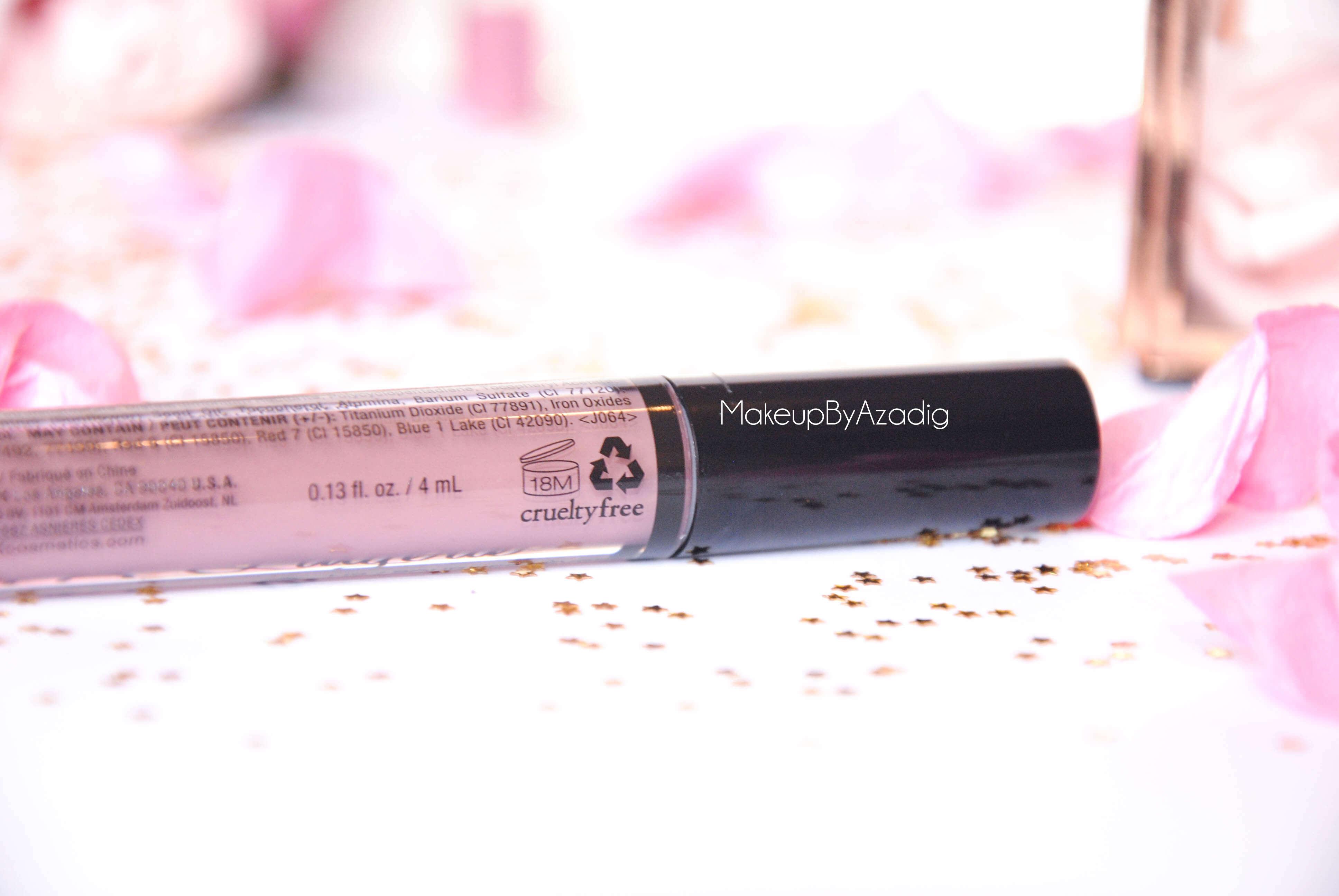 lip lingerie - revue - swatch- nyx cosmetics - embellishment - bedtime flirt - makeupbyazadig - enjoyphoenix - troyes - cruelty free