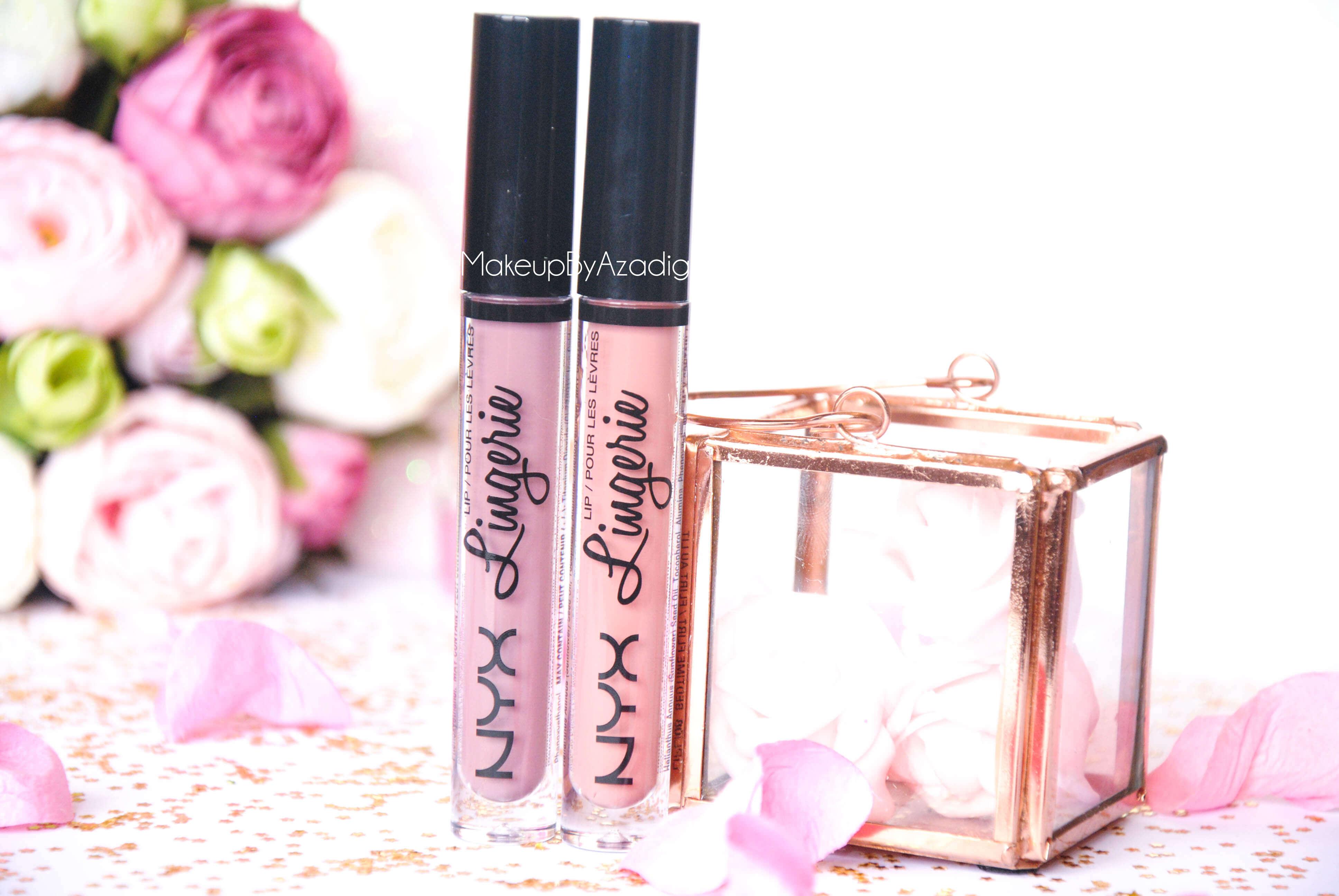 lip lingerie - revue - swatch- nyx cosmetics - embellishment - bedtime flirt - makeupbyazadig - enjoyphoenix - troyes - mat