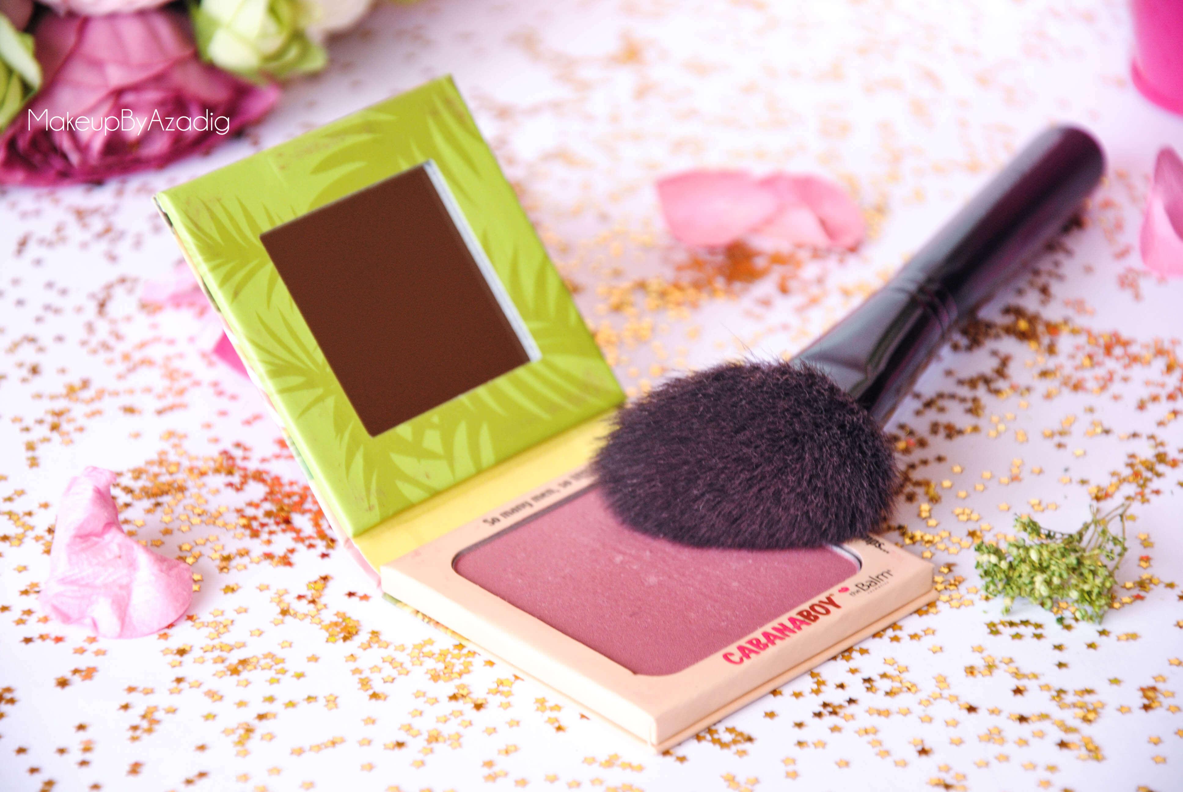 cabanaboy-the balm-blush rose fonce-monoprix-beaute privee-the beautyst-makeupbyazadig-brushes
