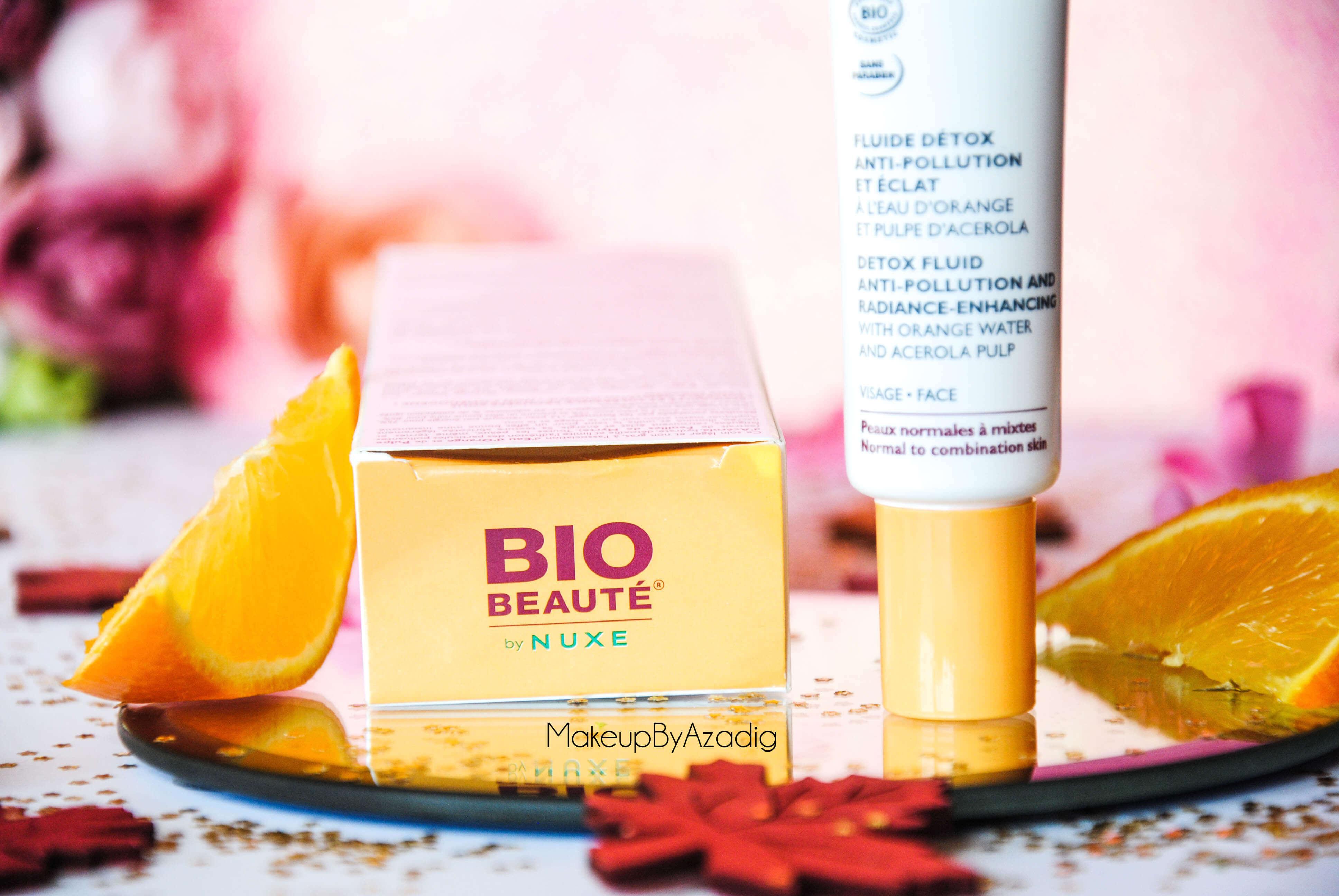 bio-beaute-nuxe-lotion-fluide-creme-contour-des-yeux-masque-orange-acerola-doctipharma-routine-du-matin-detox-eclat-nouvelle-gamme-soin-troyes-makeupbyazadig-blog-revue-review-anti-pollution-bio