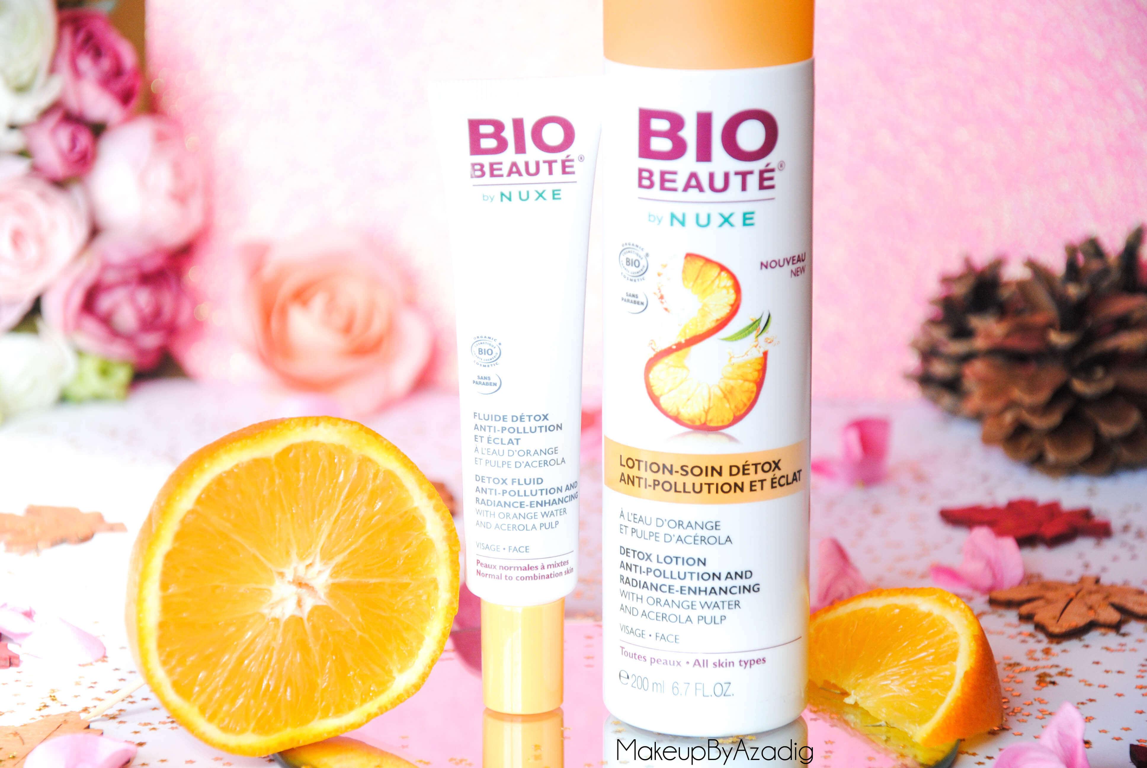 bio-beaute-nuxe-lotion-fluide-creme-contour-des-yeux-masque-orange-acerola-doctipharma-routine-du-matin-detox-eclat-soin-troyes-paris-makeupbyazadig-blog-revue-review-anti-pollution-enjoy