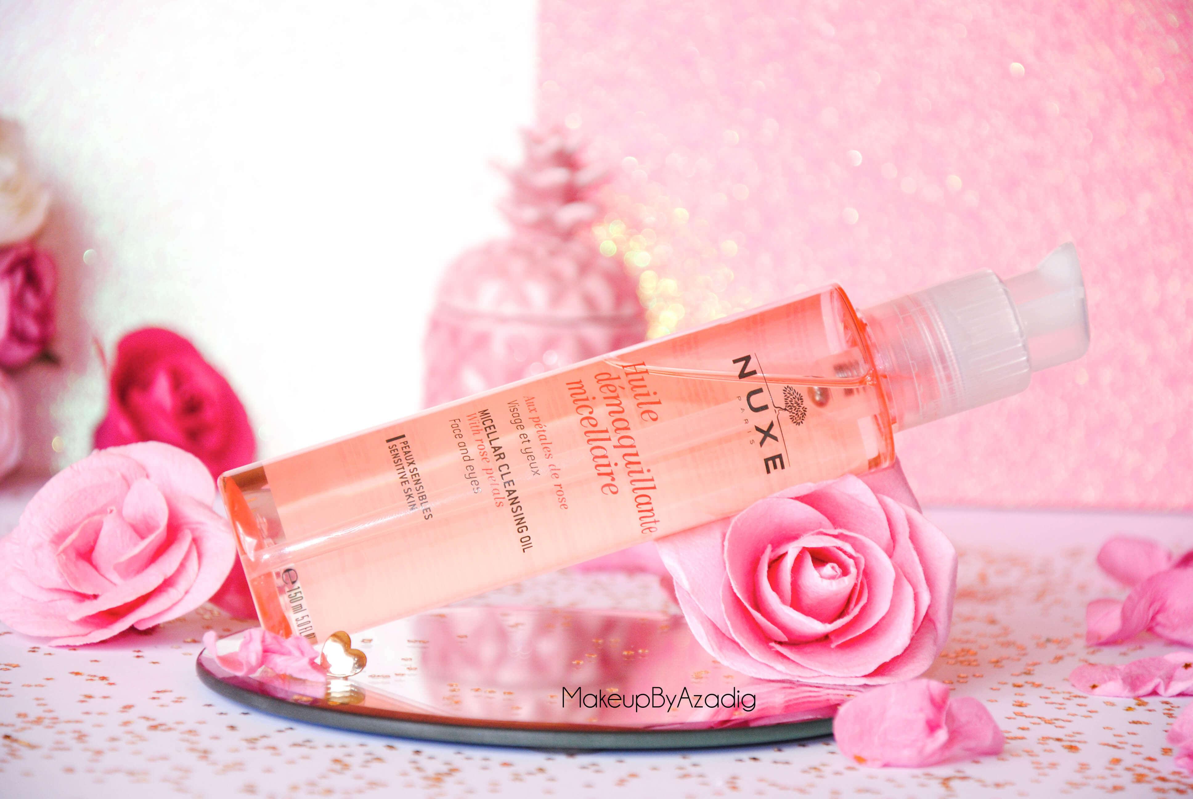 makeupbyazadig-huile-demaquillante-micellaire-nuxe-petales-de-rose-doctipharma-revue-avis-prix-dont