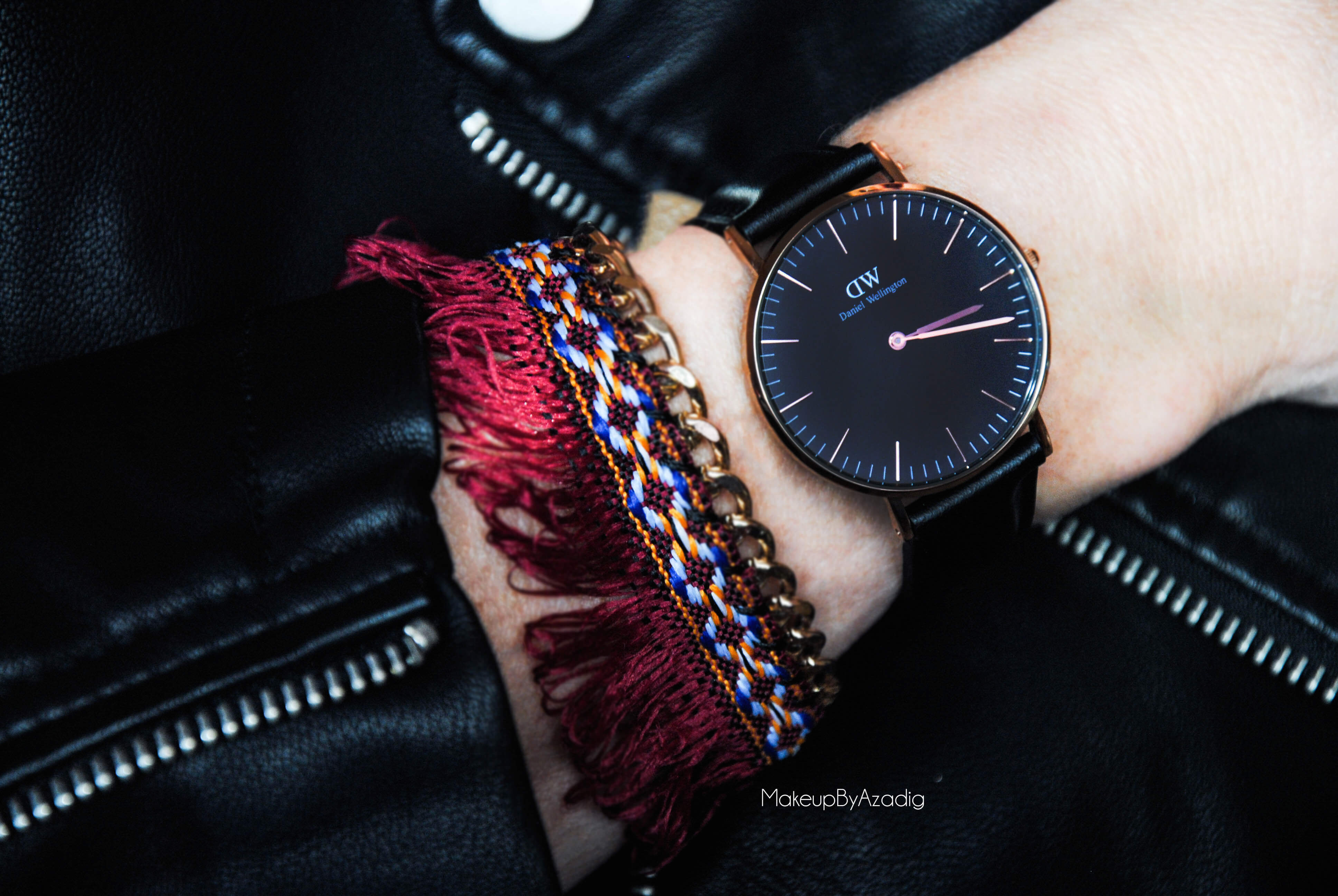 makeupbyazadig-daniel-wellington-montre-classic-black-sheffield-code-promo-troyes-paris-swatch