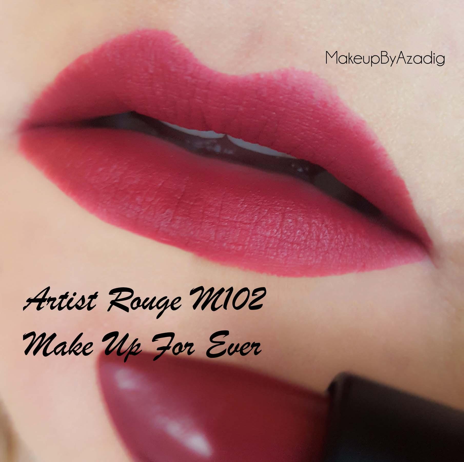 revue-artist-rouge-makeup-for-ever-rouge-levres-mat-sephora-prix-avis-review-m102-makeupbyazadig-swatch