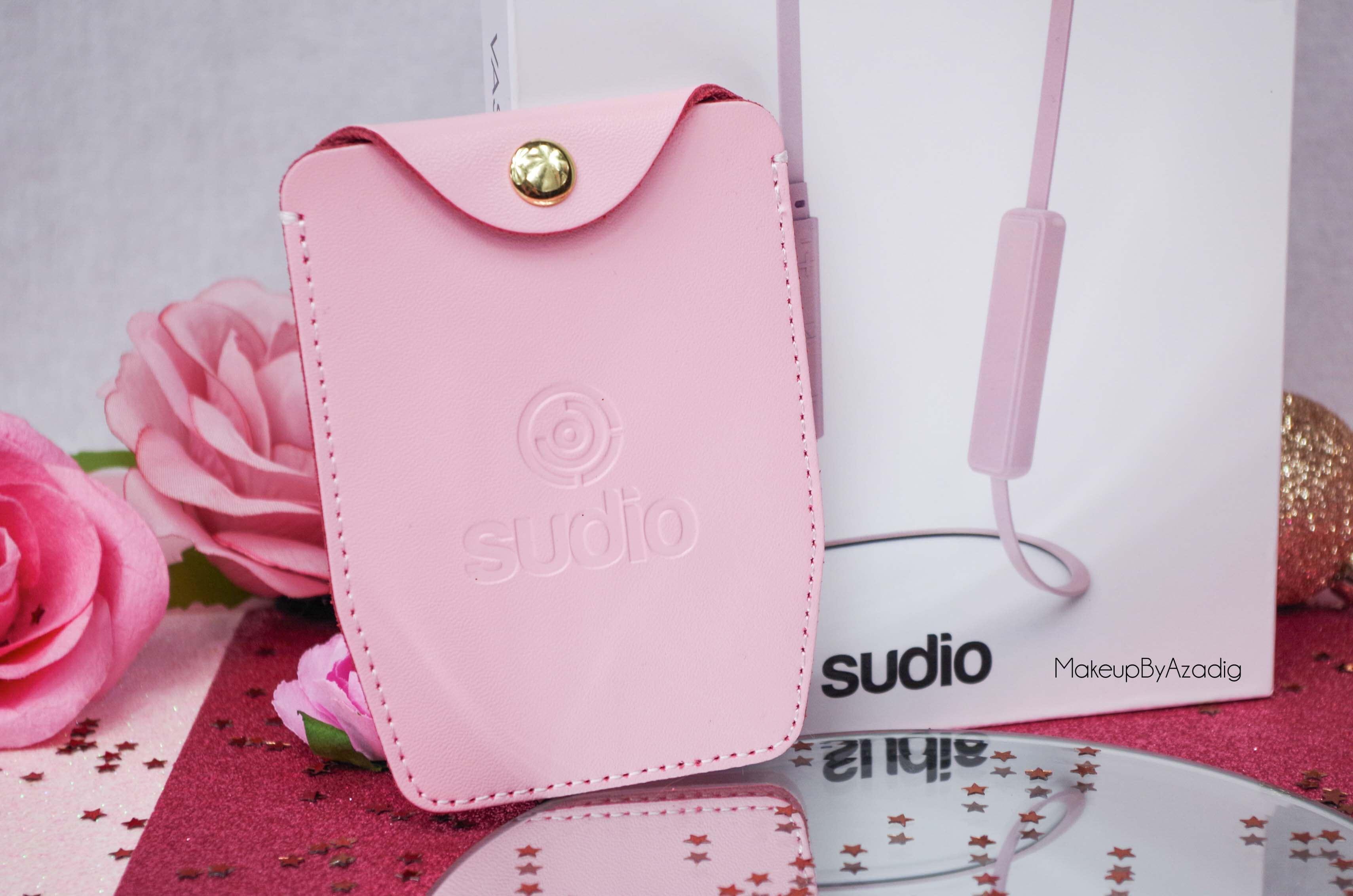 ecouteurs-casque-sans-fil-bluetooth-design-tendance-sudio-sweden-rose-vasa-bla-makeupbyazadig-avis-prix-pochette-cuir
