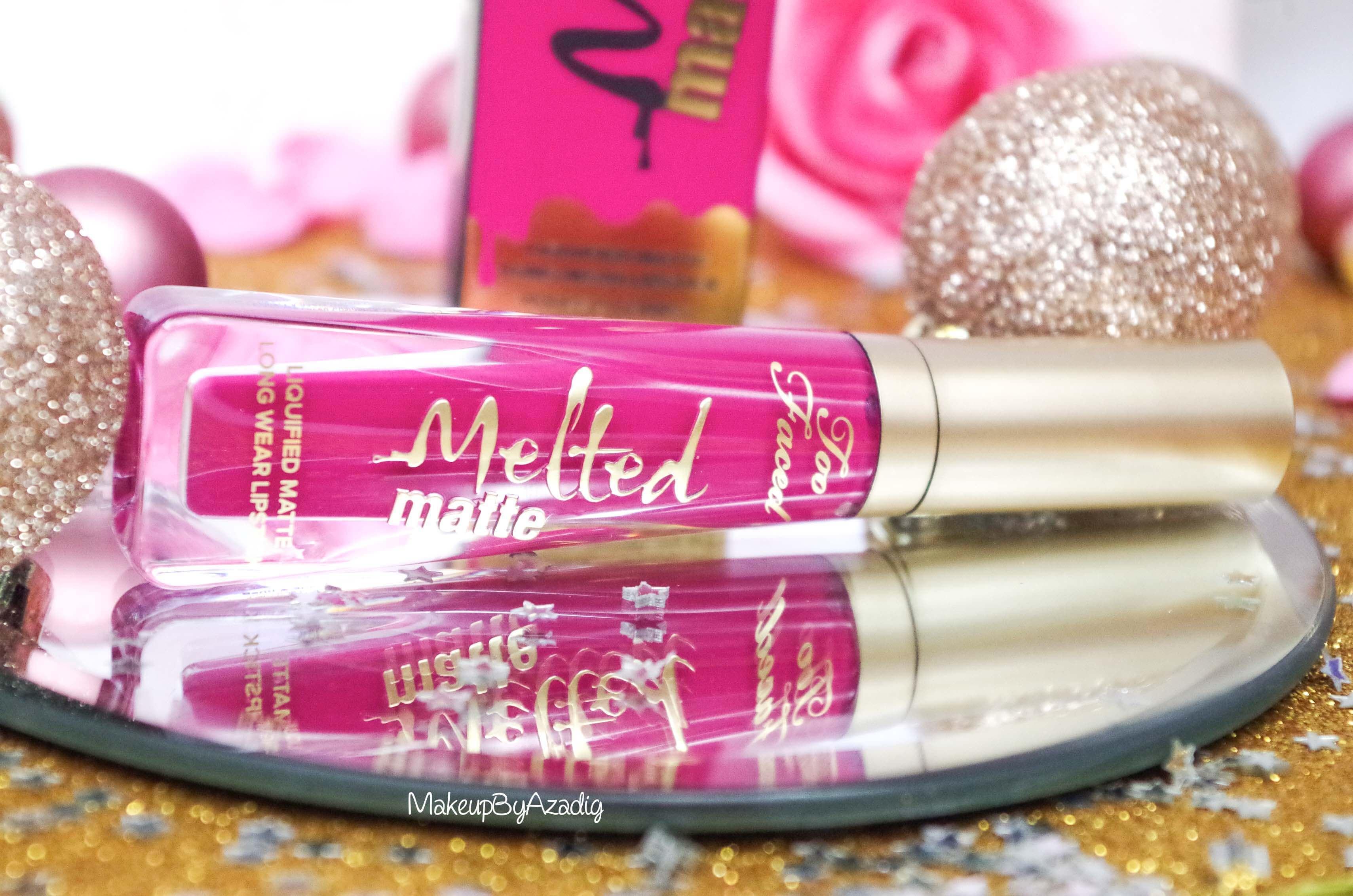makeupbyazadig-melted-matte-queenb-bendandsnap-influencer-too-faced-rouge-levres-revue-avis-prix-sephora-paris-blog-liquide-lips