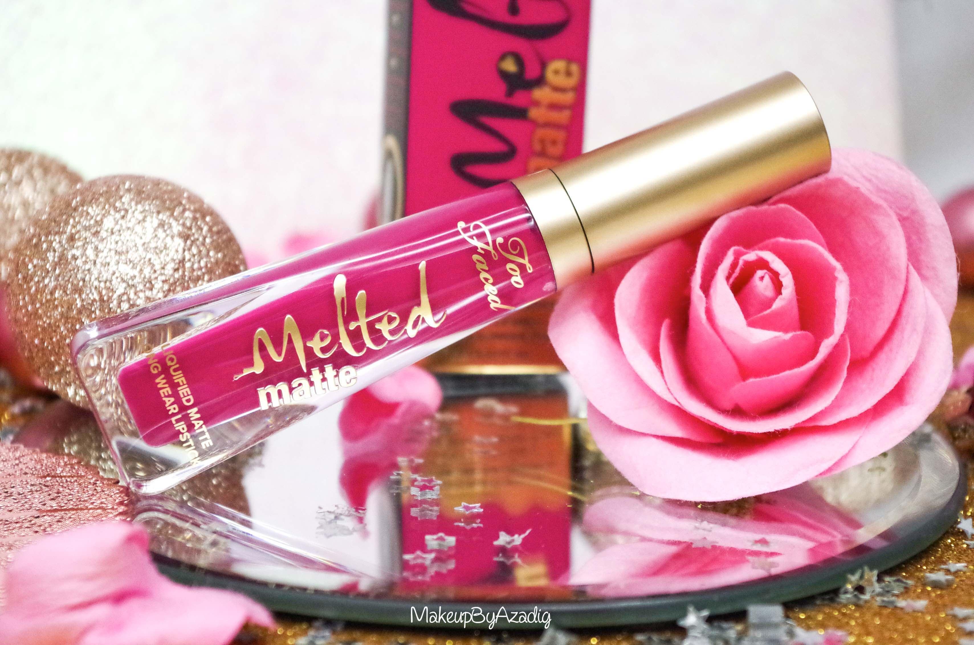 miniature-makeupbyazadig-melted-matte-queenb-bendandsnap-influencer-too-faced-rouge-levres-revue-avis-prix-sephora-paris-blog-liquide
