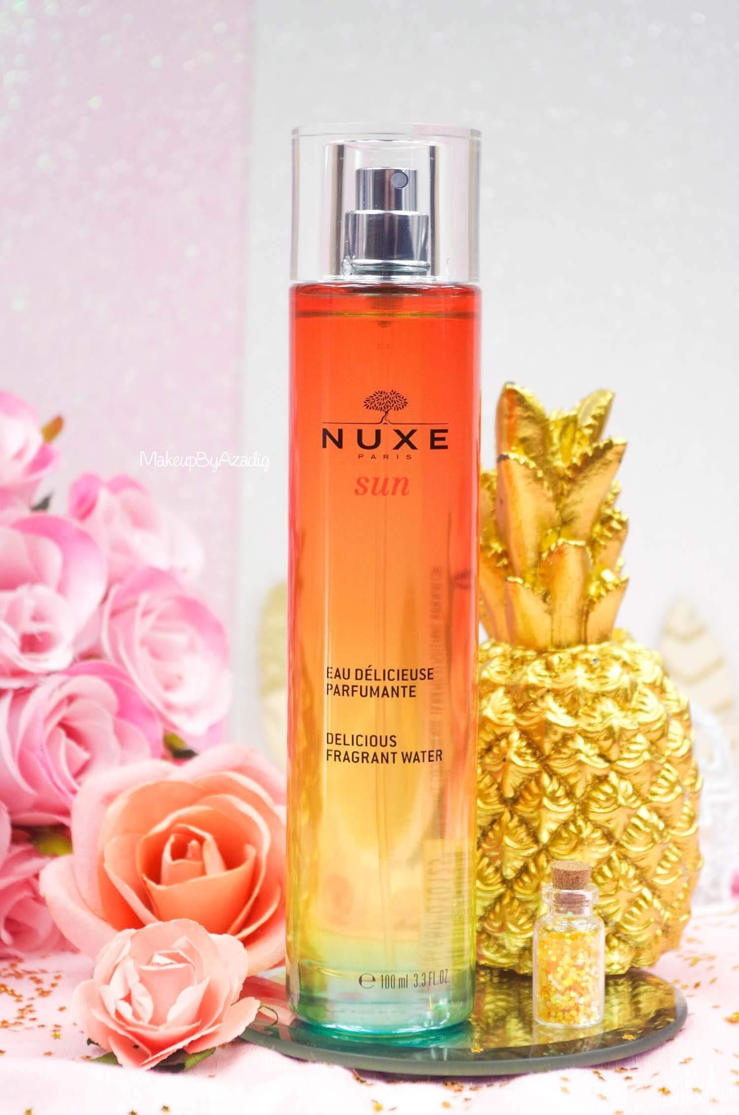 revue-review-eau-delicieuse-parfumante-nuxe-sun-paris-blog-makeupbyazadig-monoi-soleil-parapharmacie-instagram
