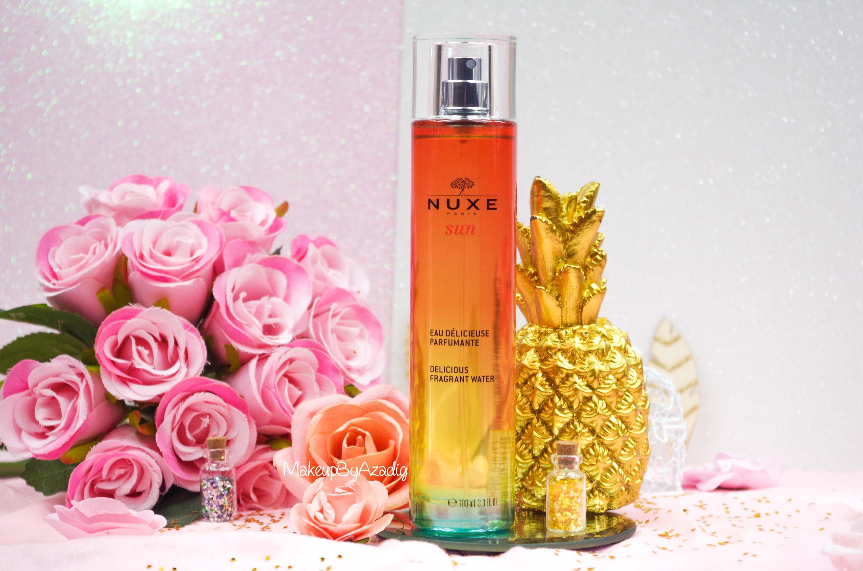 revue-review-eau-delicieuse-parfumante-nuxe-sun-paris-blog-makeupbyazadig-monoi-soleil-parapharmacie-summer