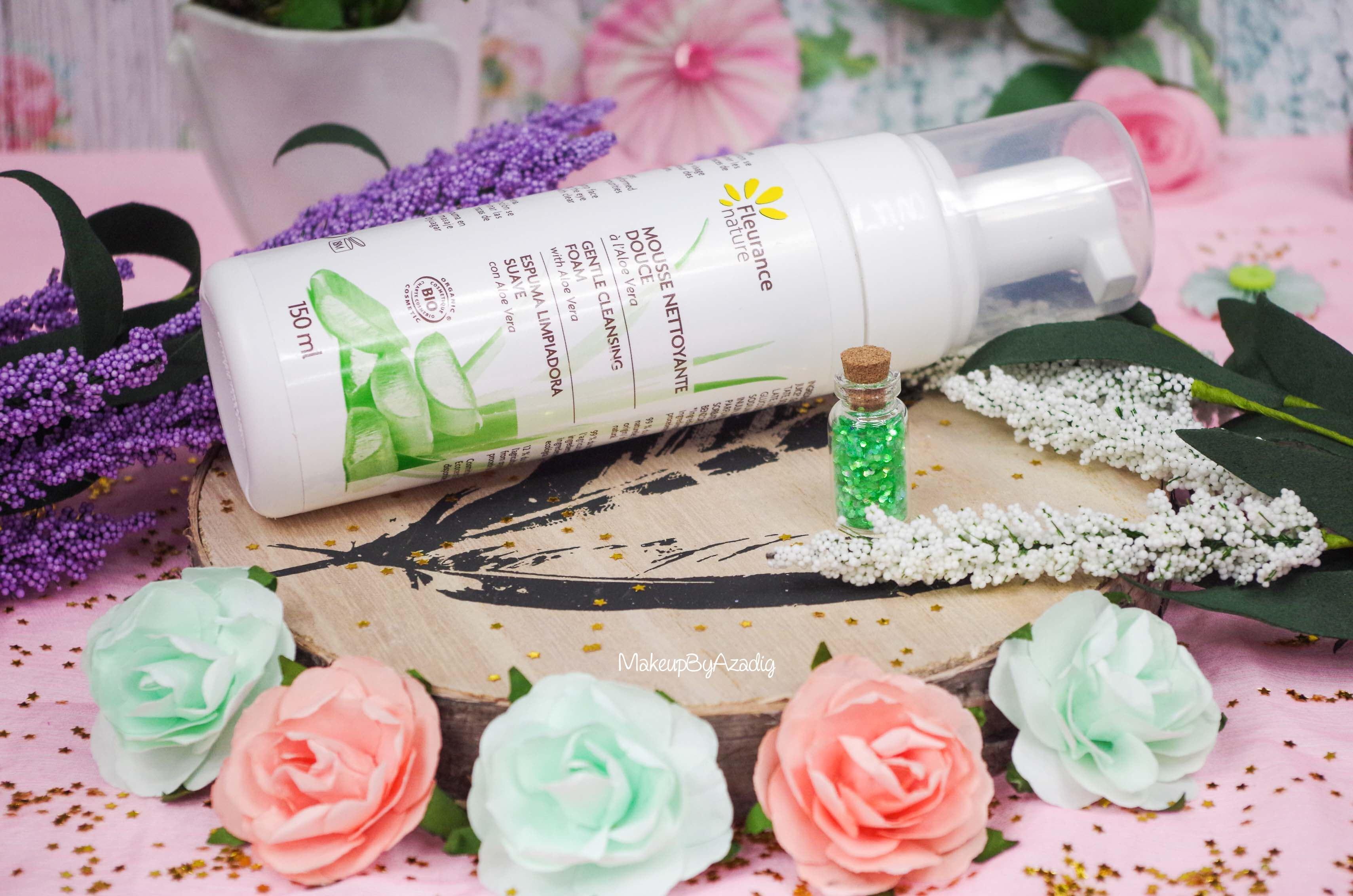 aloe-vera-revue-review-mousse-nettoyante-douce-fleurance-nature-partenariat-soin-bio-makeupbyazadig-avis-prix-influencer