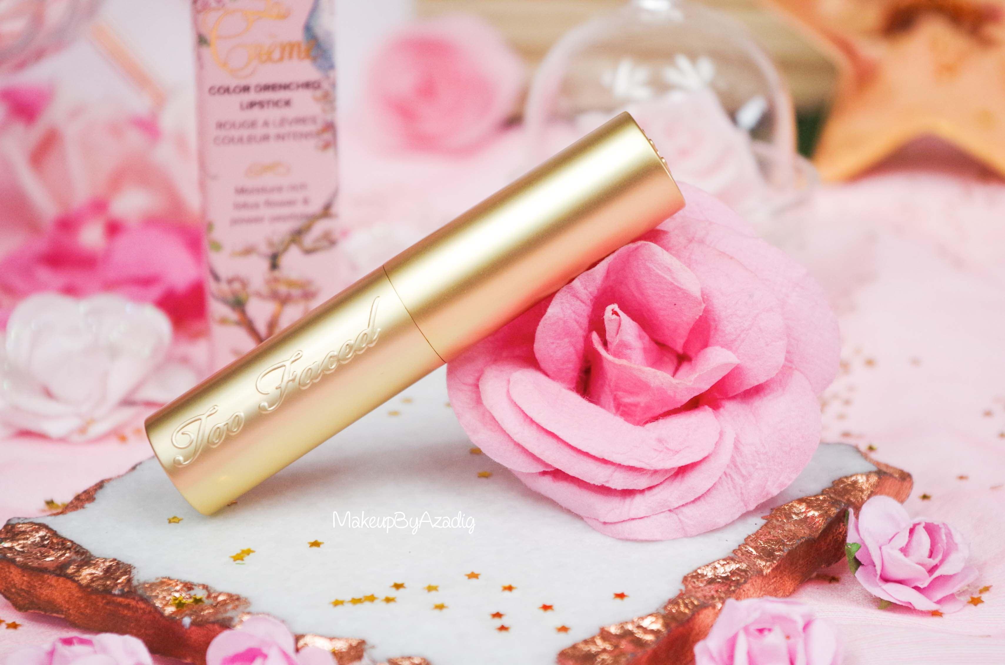 rouge-levres-creme-too-faced-unicorn-tears-magique-makeupbyazadig-swatch-avis-prix-revue-sephora-rose