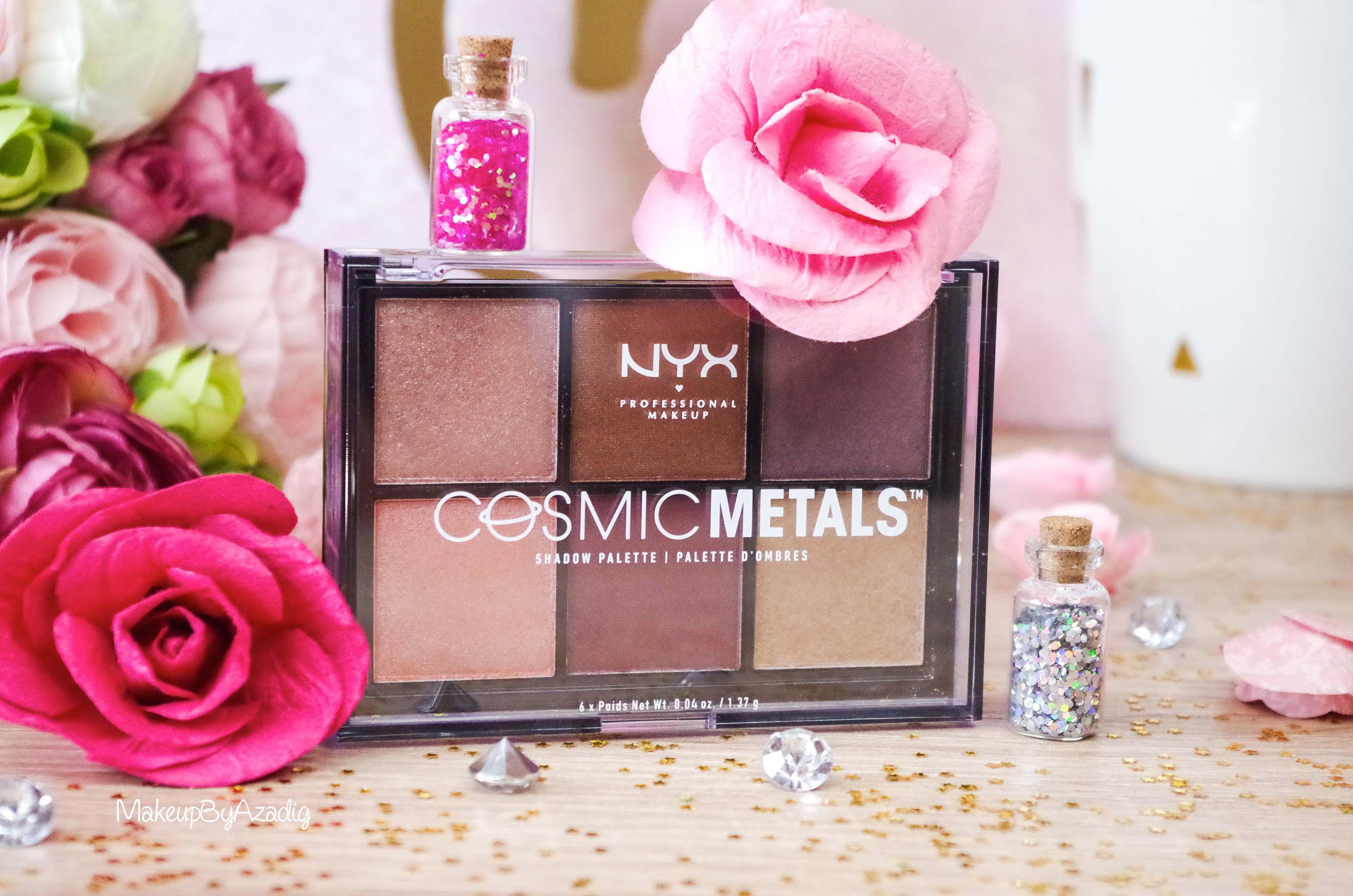 revue-palette-fards-paupieres-cosmic-metals-nyx-cosmetics-pas-cher-meilleure-makeupbyazadig-influencer-avis