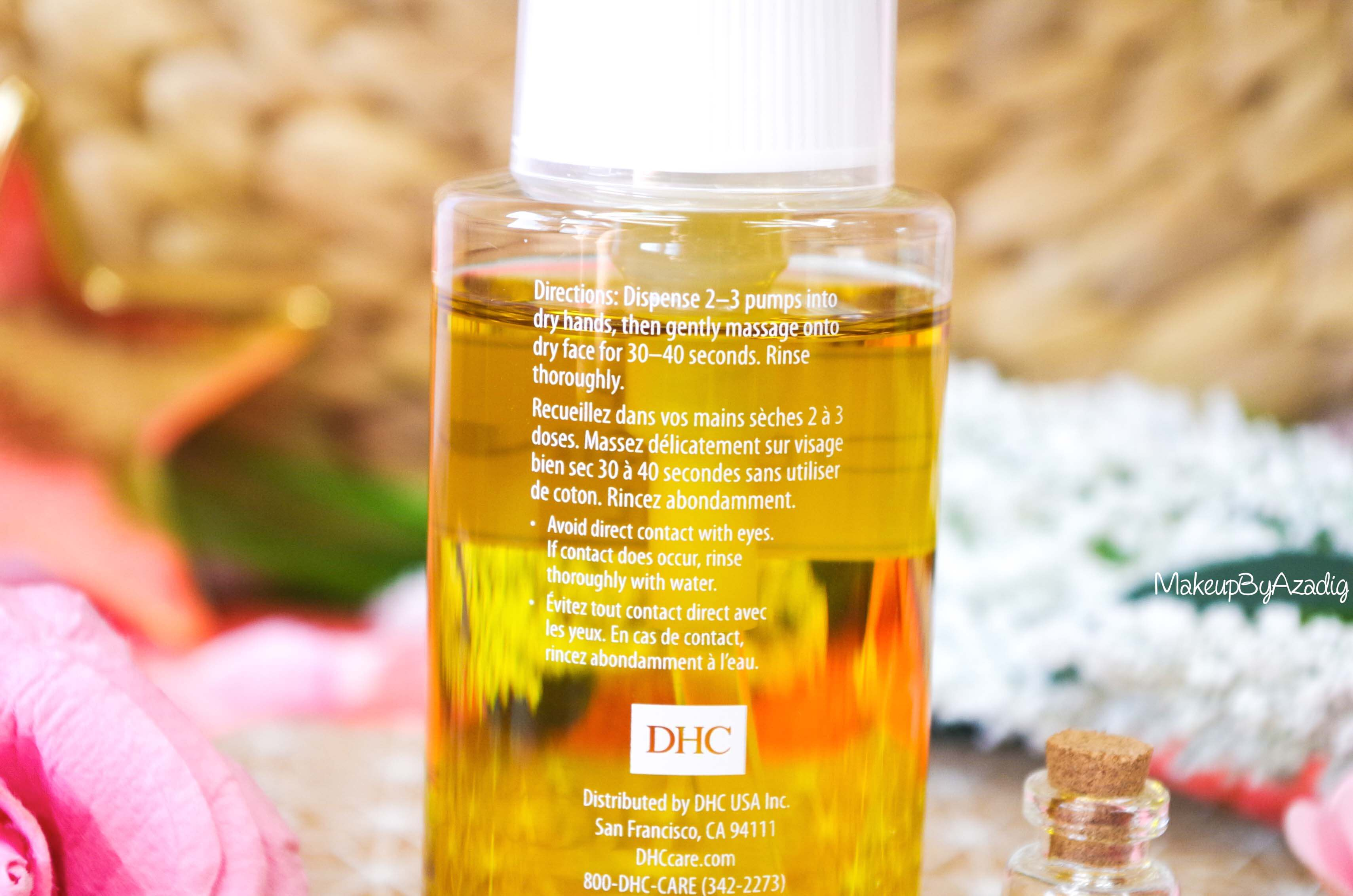 revue-review-huile-demaquillante-deep-cleansing-oil-dhc-meilleure-avis-prix-nocibe-monoprix-makeupbyazadig-application