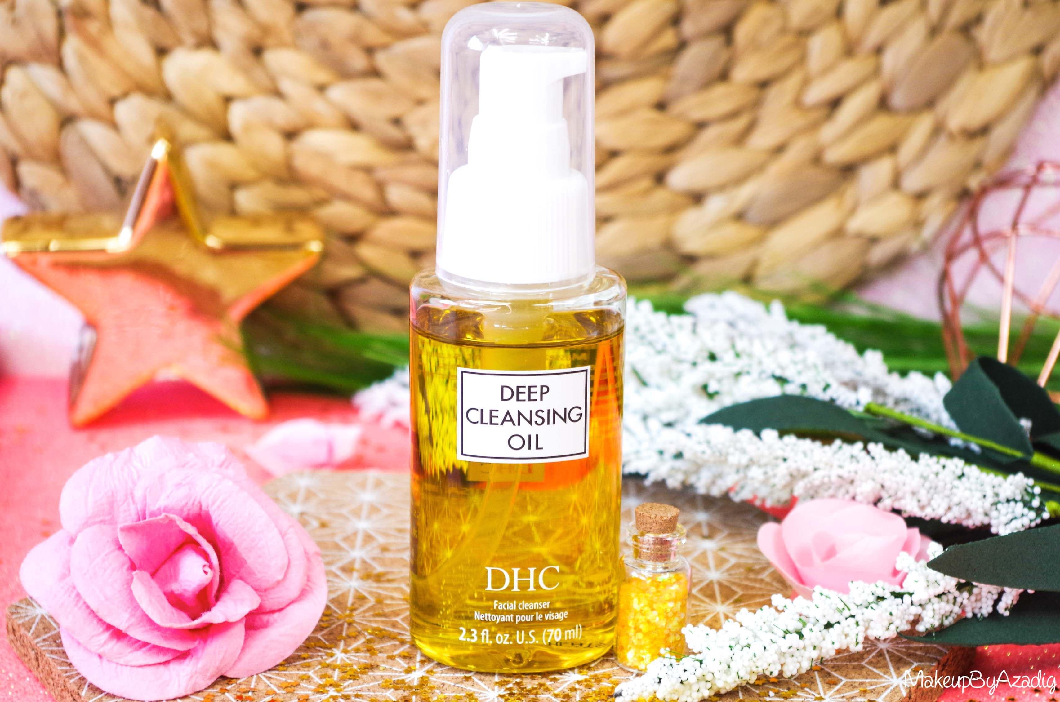 revue-review-huile-demaquillante-deep-cleansing-oil-dhc-meilleure-avis-prix-nocibe-monoprix-makeupbyazadig-best
