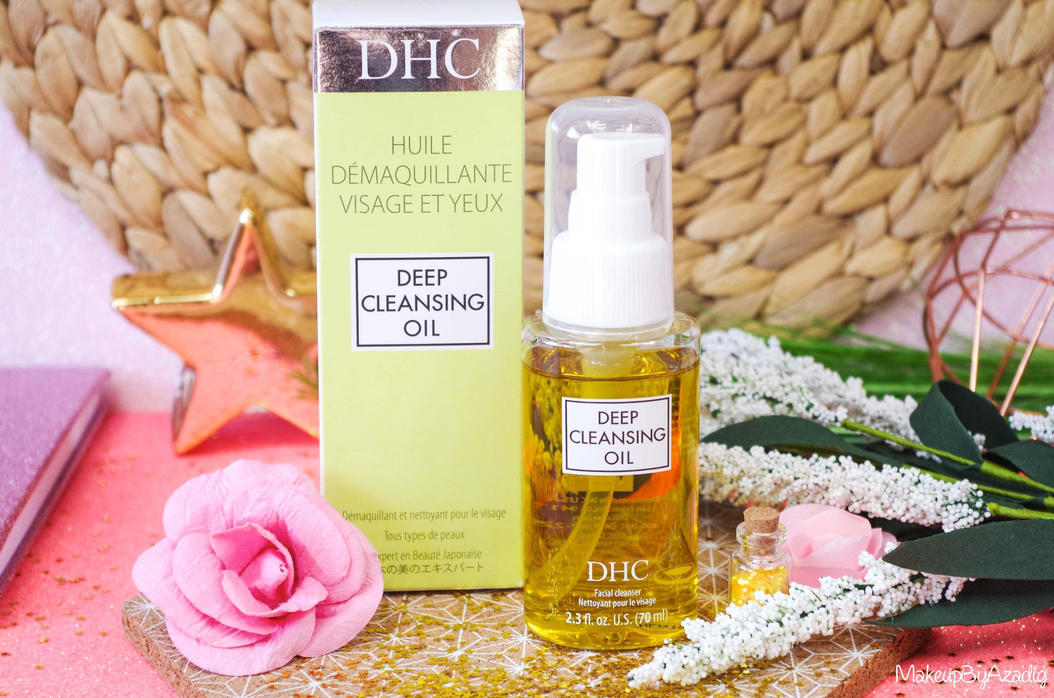 revue-review-huile-demaquillante-deep-cleansing-oil-dhc-meilleure-avis-prix-nocibe-monoprix-makeupbyazadig-composition