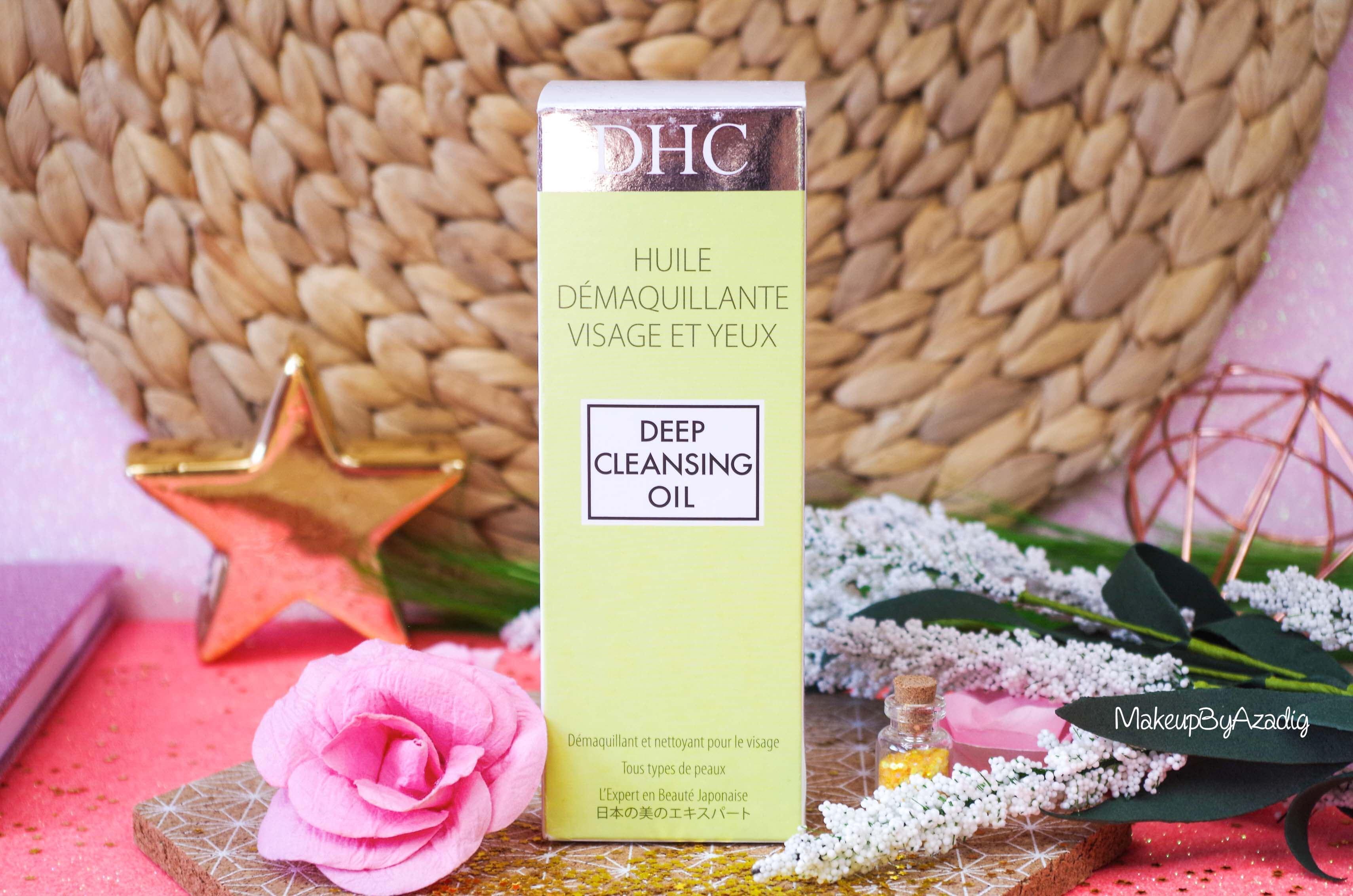 revue-review-huile-demaquillante-deep-cleansing-oil-dhc-meilleure-avis-prix-nocibe-monoprix-makeupbyazadig