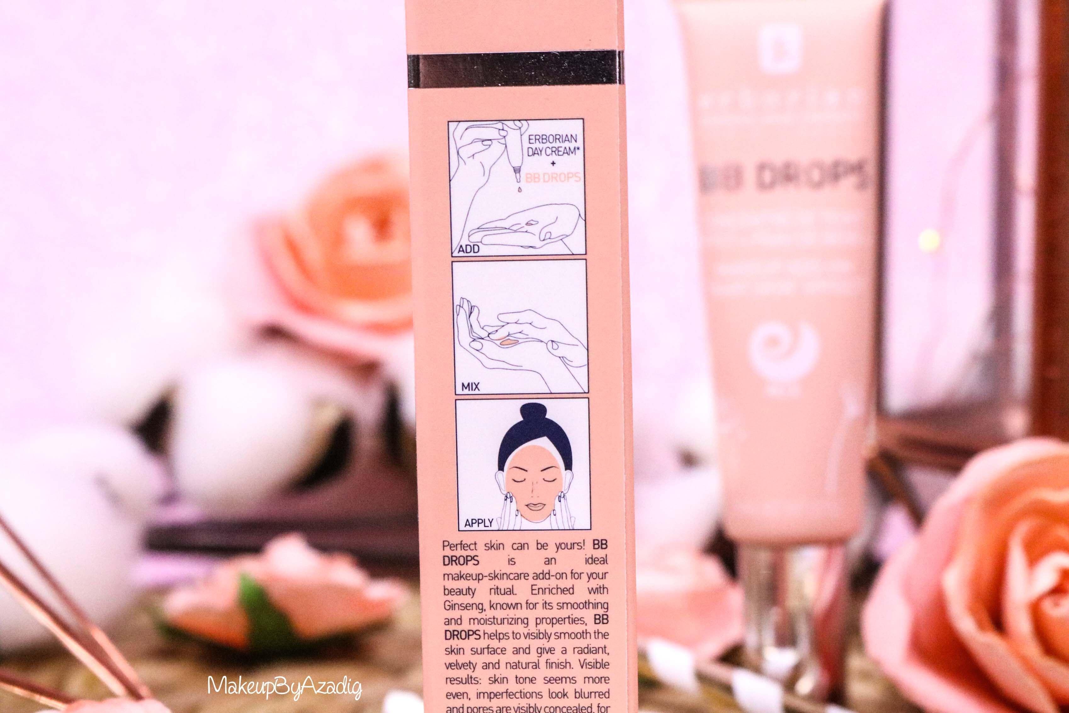 revue-bb-drops-mask-erborian-sephora-teint-parfait-de-bebe-avis-prix-swatch-makeupbyazadig-nouveaute-application