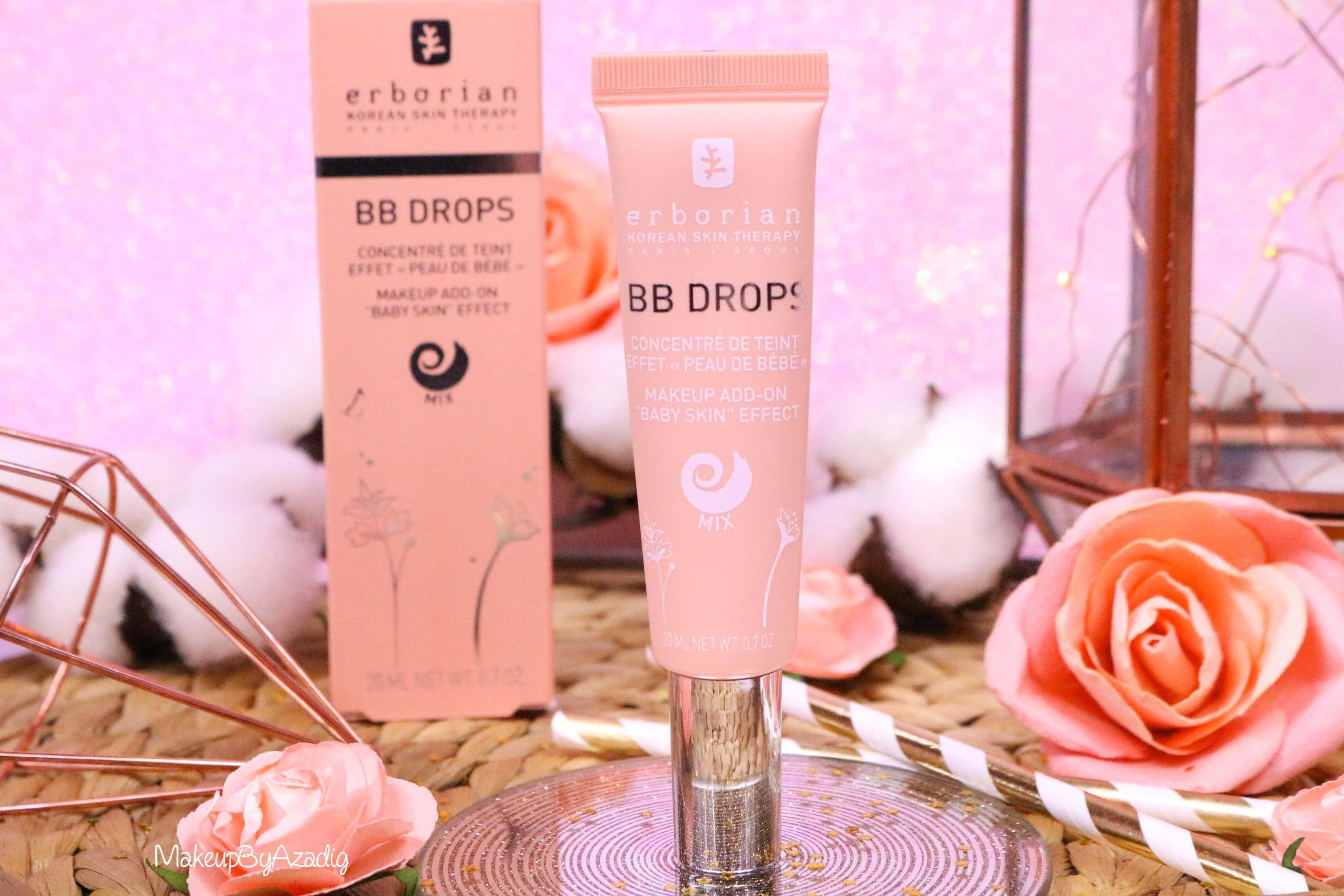 revue-bb-drops-mask-erborian-sephora-teint-parfait-de-bebe-avis-prix-swatch-makeupbyazadig-nouveaute-tube