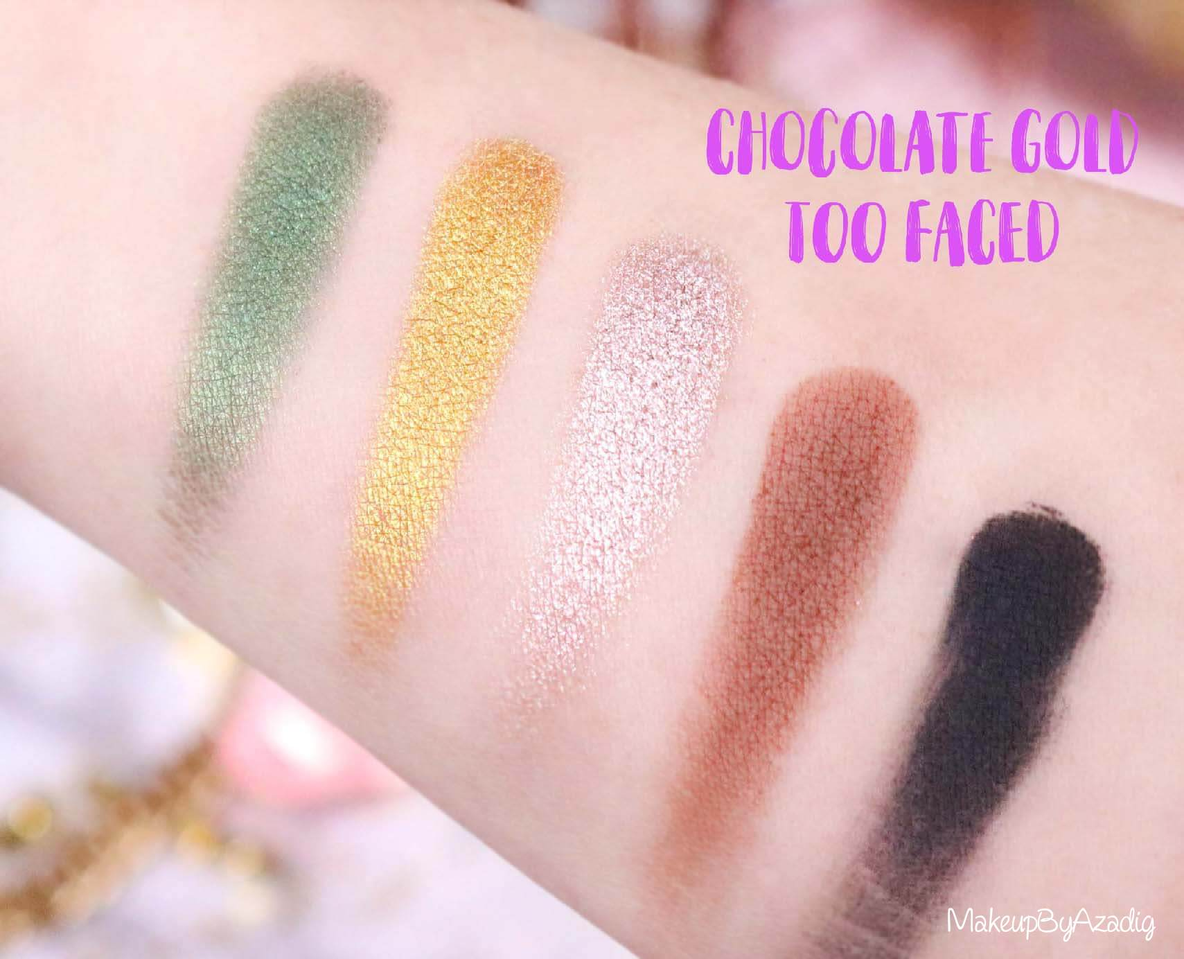 green-revue-palette-too-faced-chocolate-gold-review-swatch-swatches-avis-prix-makeupbyazadig-influencer-miniature-2
