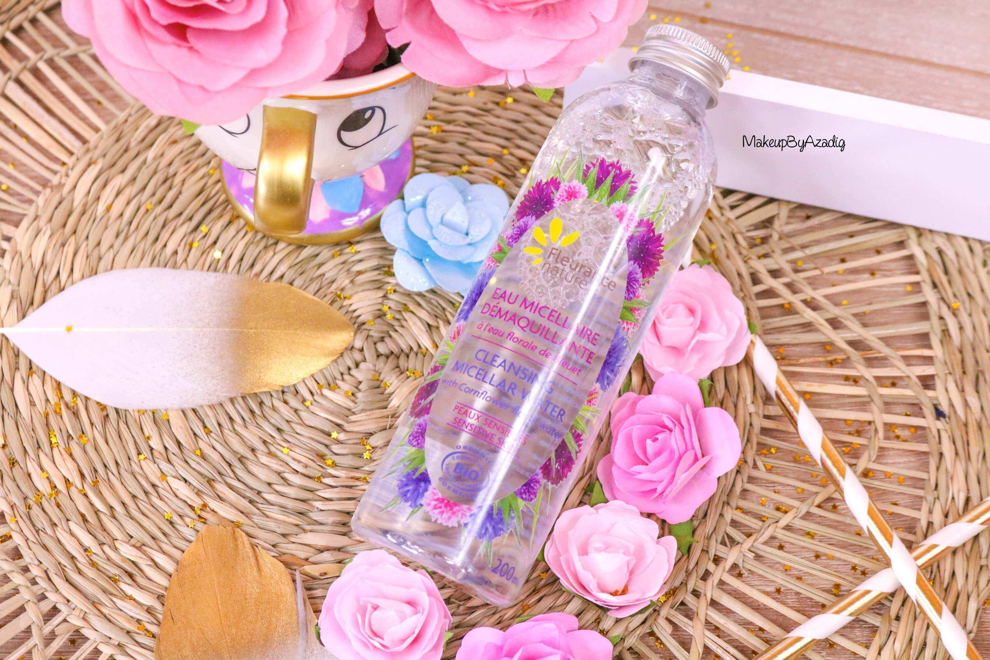 revue-eau-micellaire-peau-sensible-cosmetique-bio-fleurance-nature-makeupbyazadig-florale-bleuet-prix-avis-blue