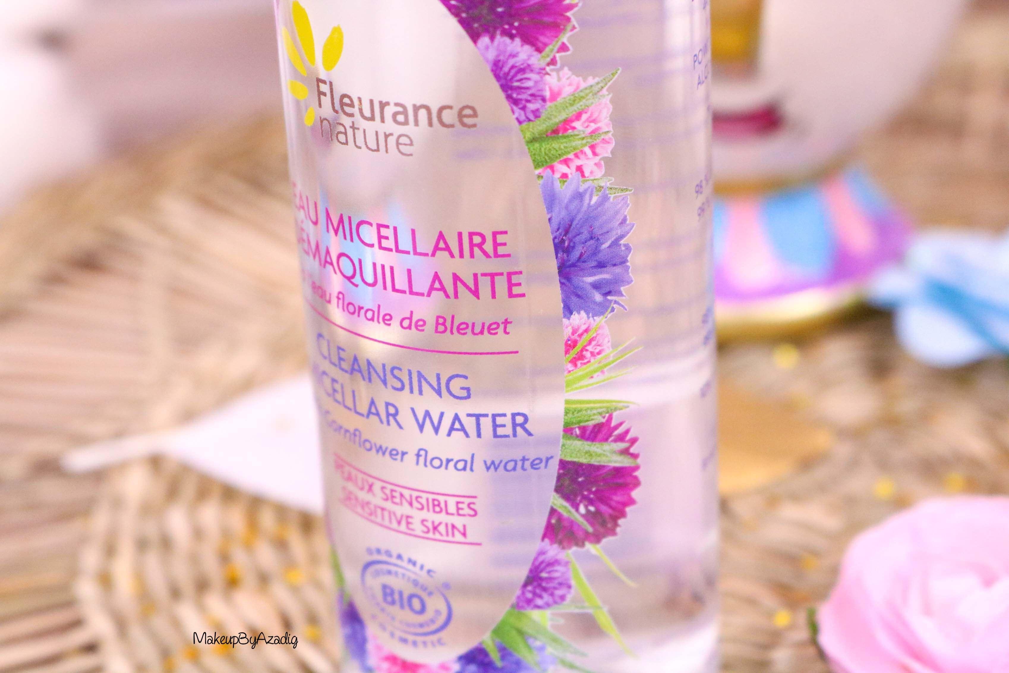 revue-eau-micellaire-peau-sensible-cosmetique-bio-fleurance-nature-makeupbyazadig-florale-bleuet-prix-avis-fleur