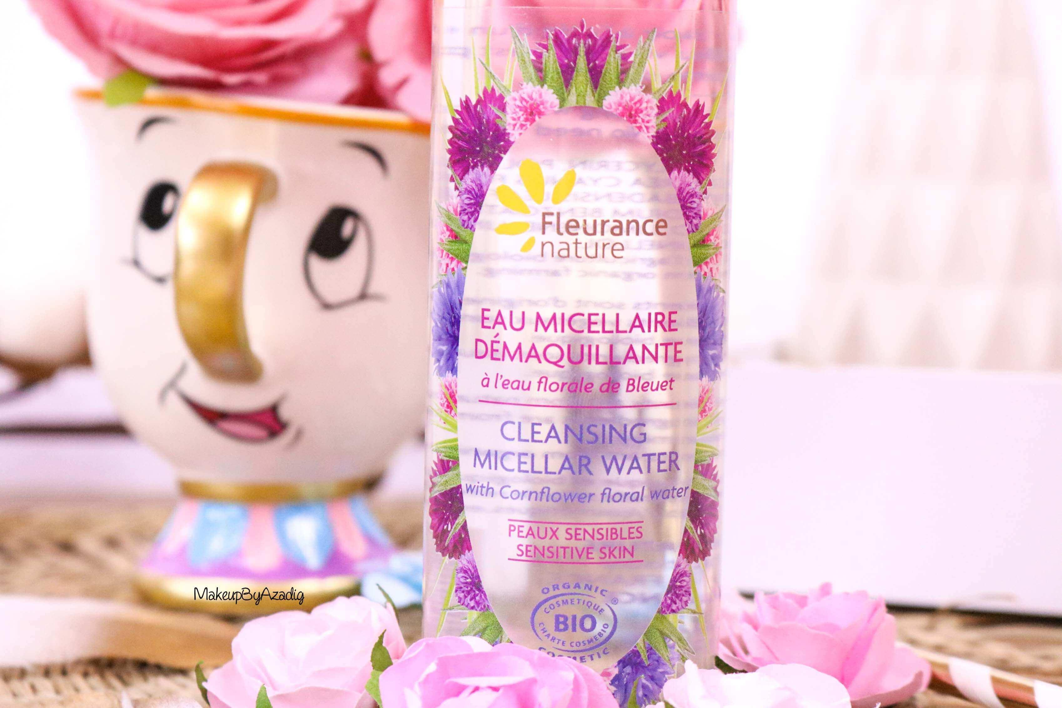 revue-eau-micellaire-peau-sensible-cosmetique-bio-fleurance-nature-makeupbyazadig-florale-bleuet-prix-avis-water