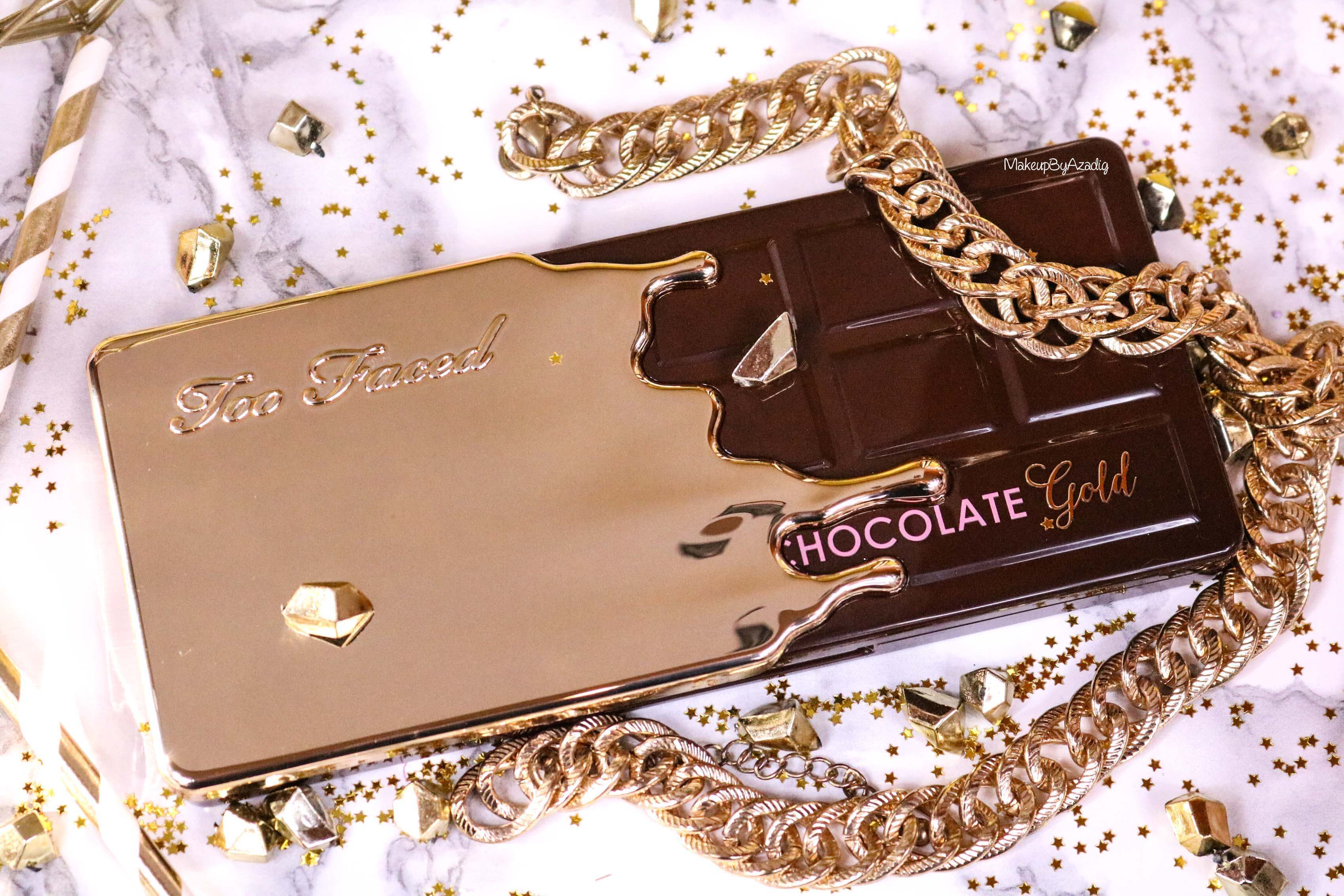 revue-palette-too-faced-chocolate-gold-review-swatch-swatches-avis-prix-makeupbyazadig-influencer-dessus