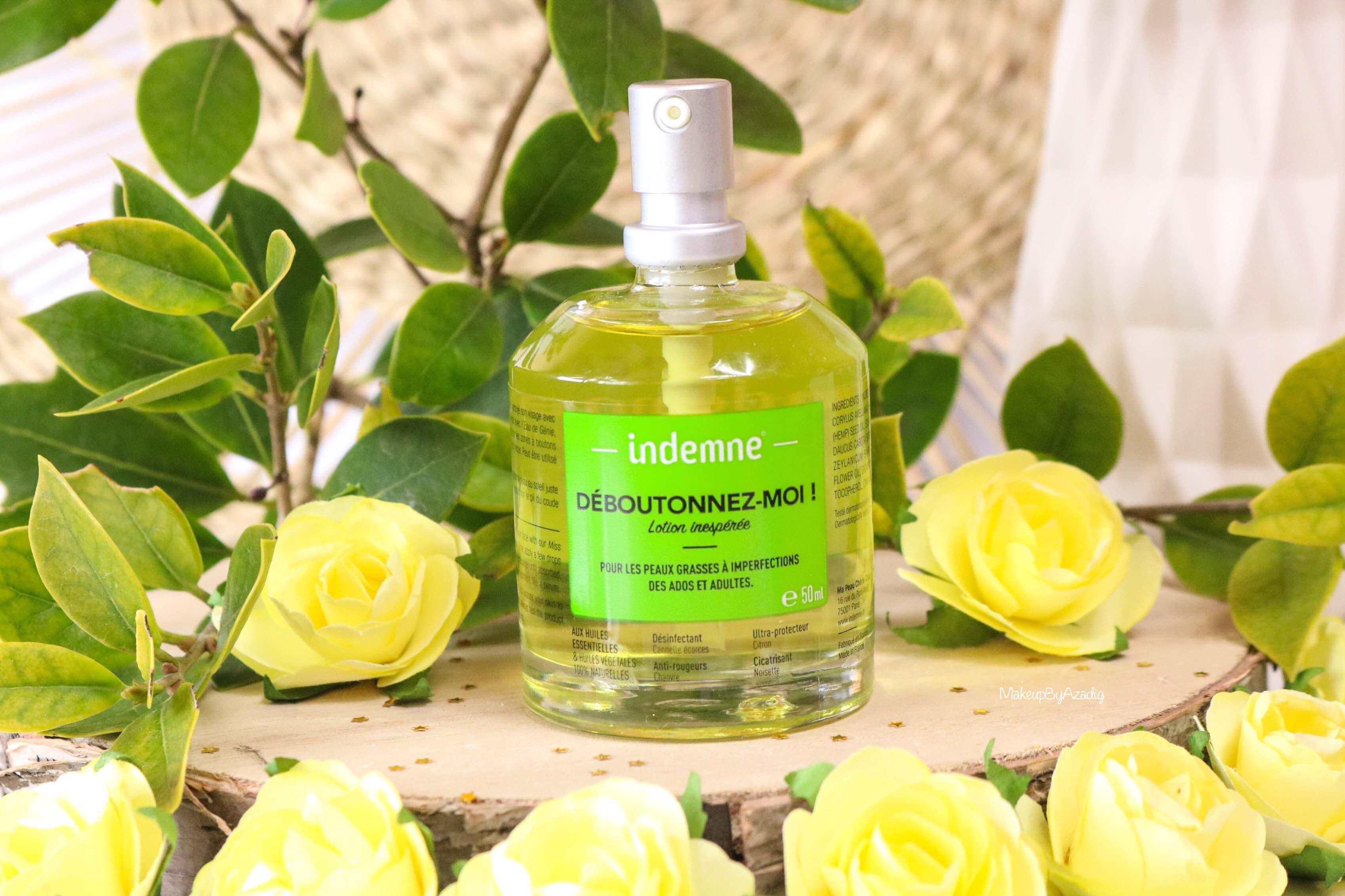 revue-deboutonnez-moi-indemne-produit-acnee-bio-huiles-parapharmacie-prix-avis-makeupbyazadig-green