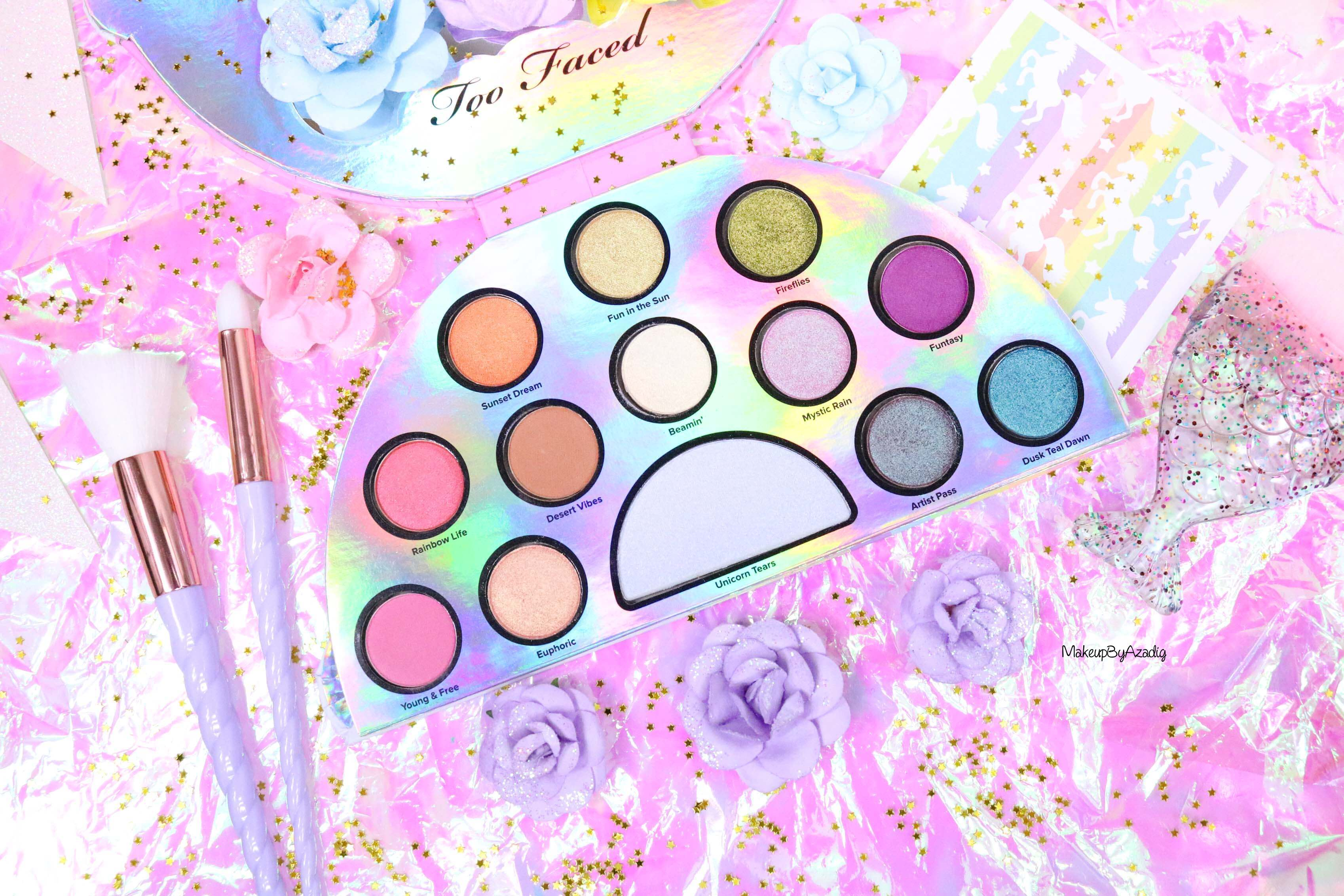 revue-palette-lifes-a-festival-too-faced-france-sephora-avis-prix-revue-makeupbyazadig-collection-licorne-magique