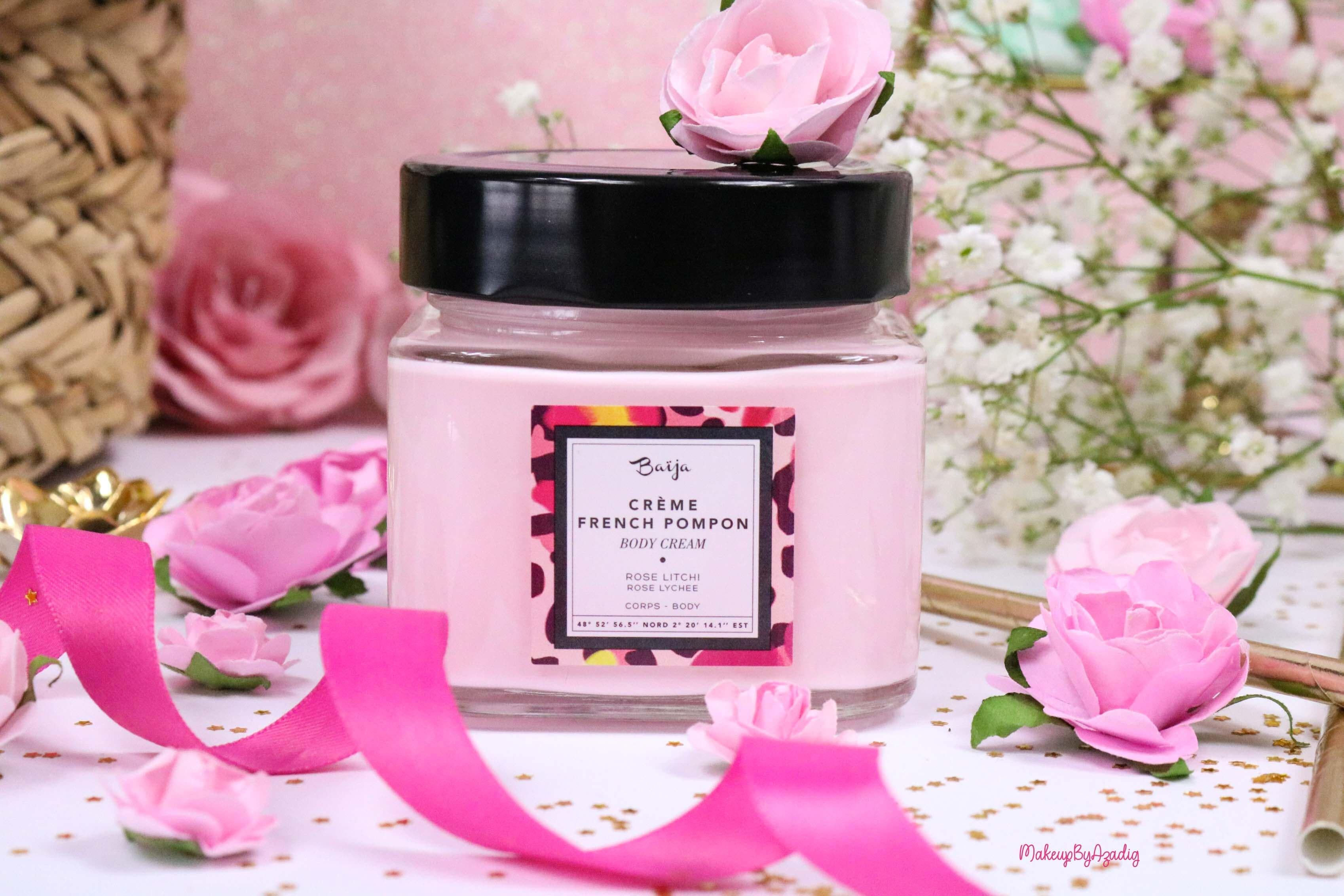 revue-creme-corps-hydratant-french-pompon-baija-rose-litchi-sephora-avis-prix-madeinfrance-makeupbyazadig-cream
