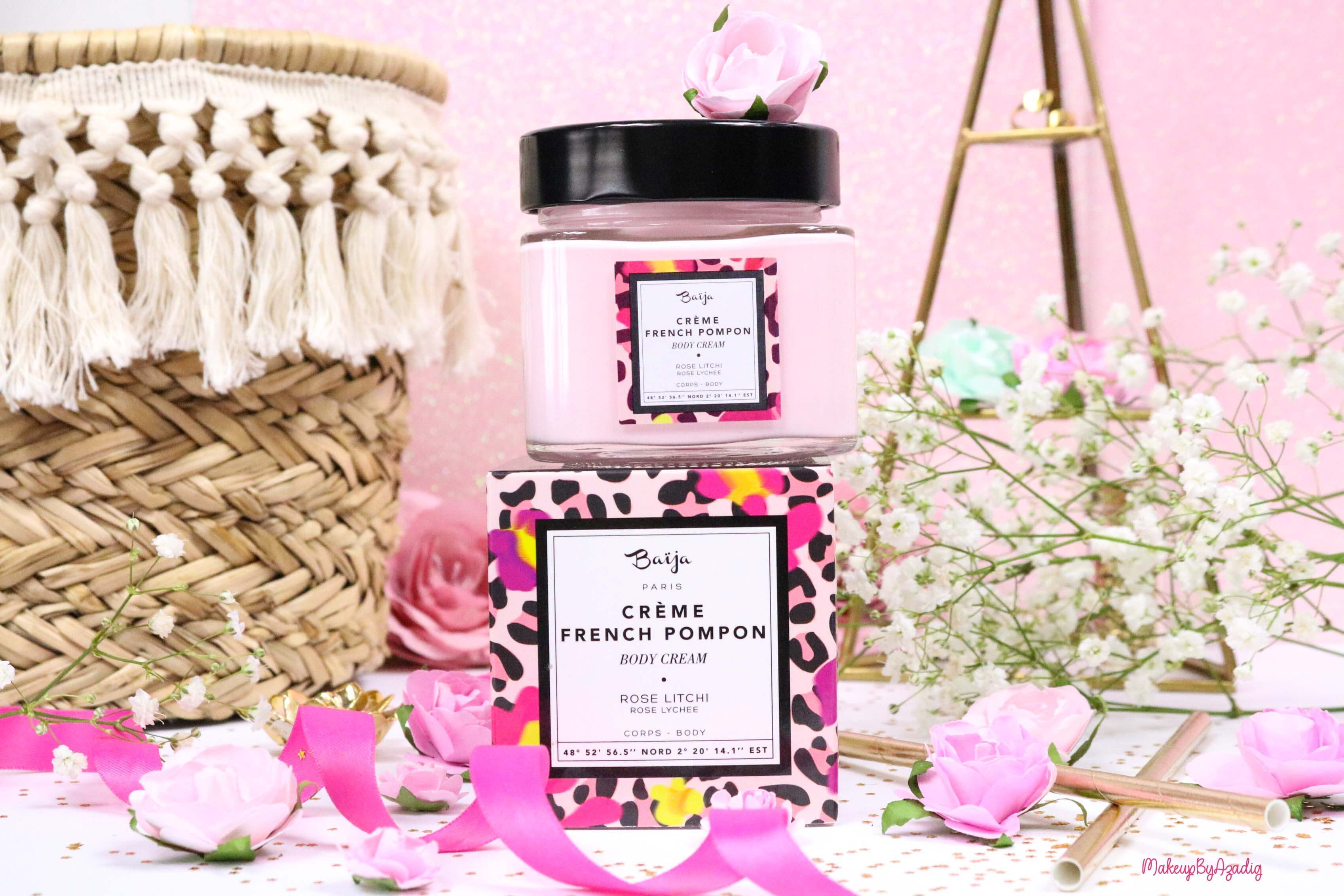 revue-creme-corps-hydratant-french-pompon-baija-rose-litchi-sephora-avis-prix-madeinfrance-makeupbyazadig-parfumeur-grasse