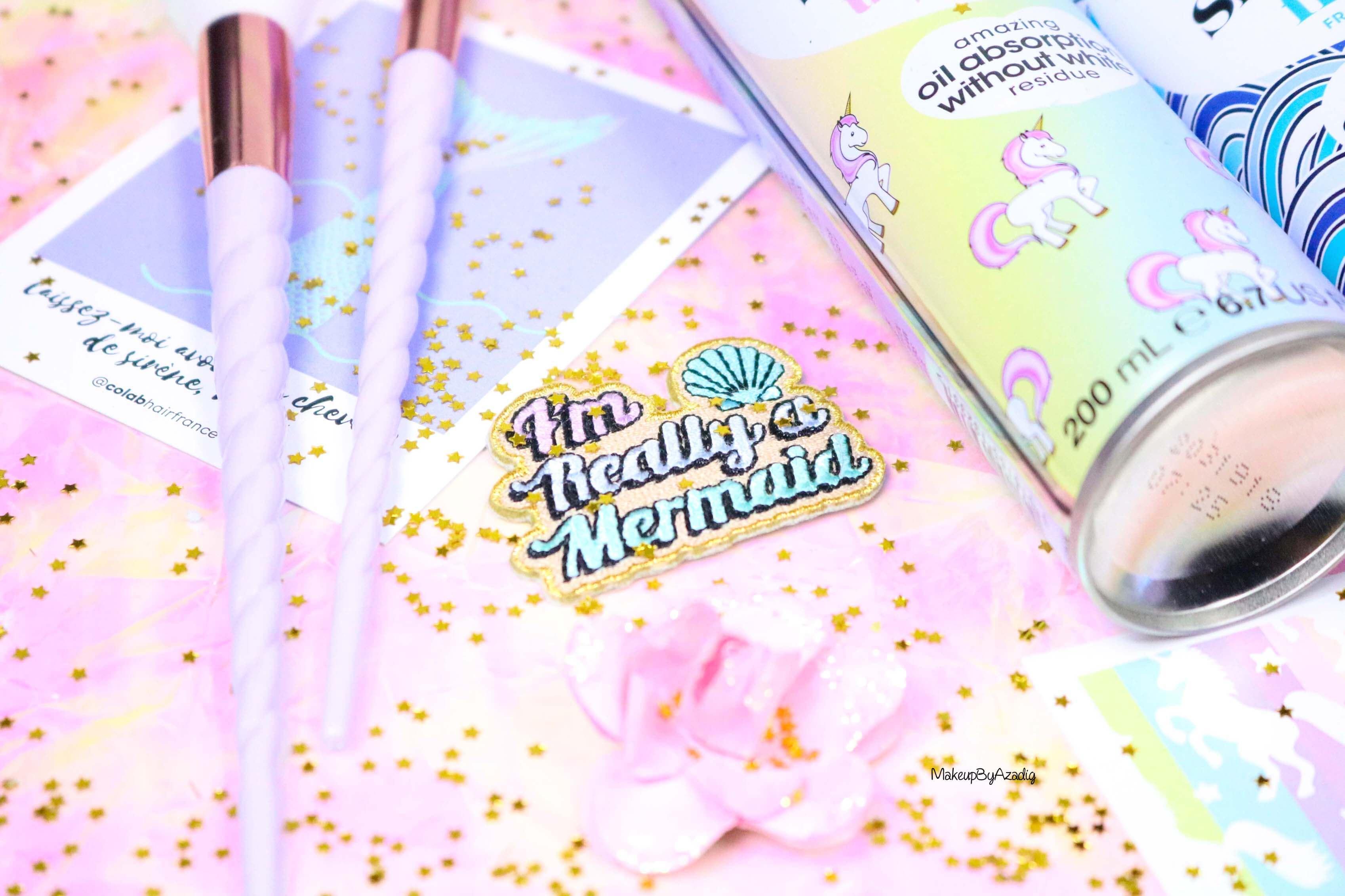 revue-shampooing-sec-colab-batiste-fresh-unicorn-monoprix-feelunique-prix-avis--soin-capillaire-efficacite-makeupbyazadig-mermaid