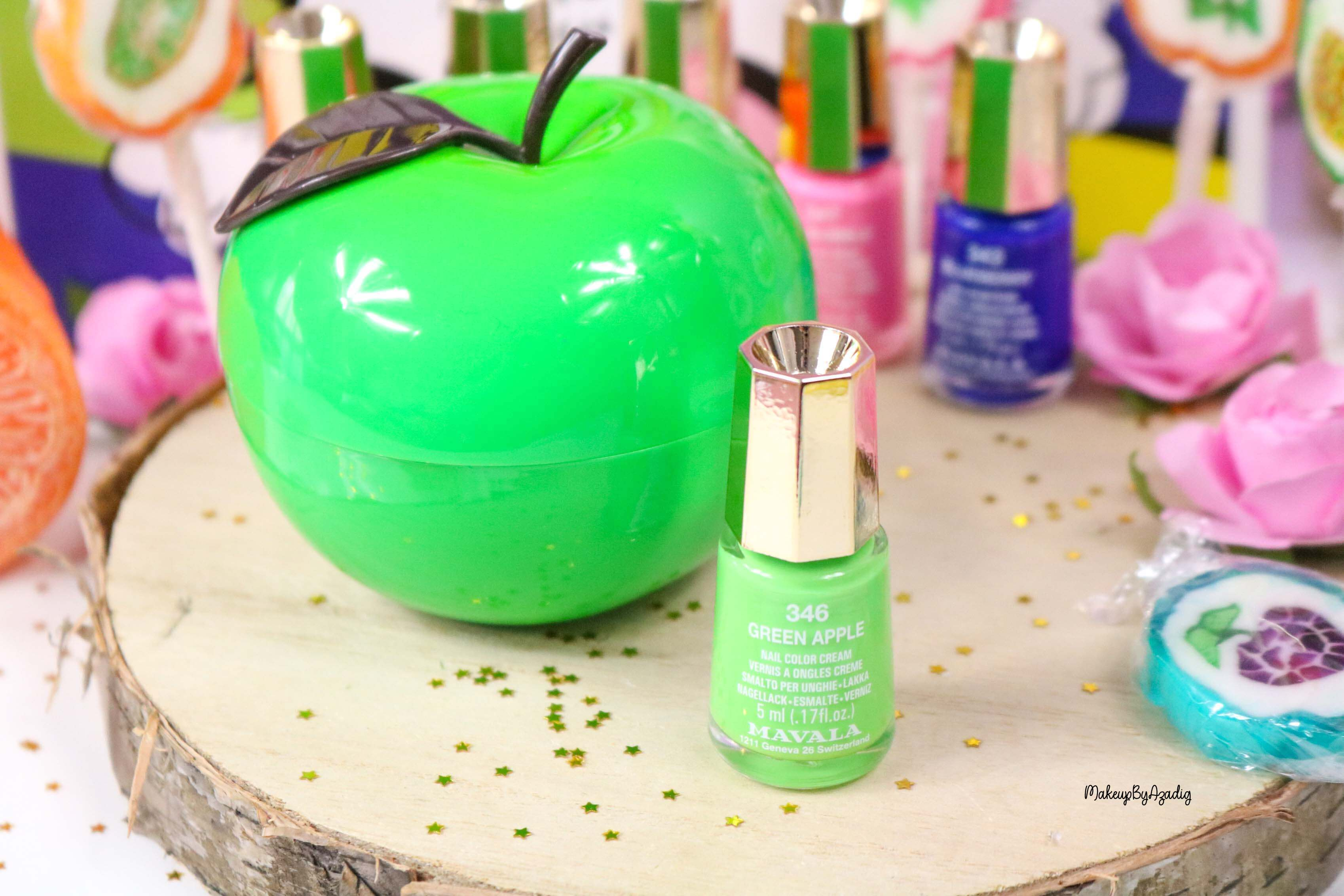 nouvelle-collection-vernis-tendance-printemps-ete-mavala-pas-cher-makeupbyazadig-avis-prix-monoprix-bubble-gum-green-apple