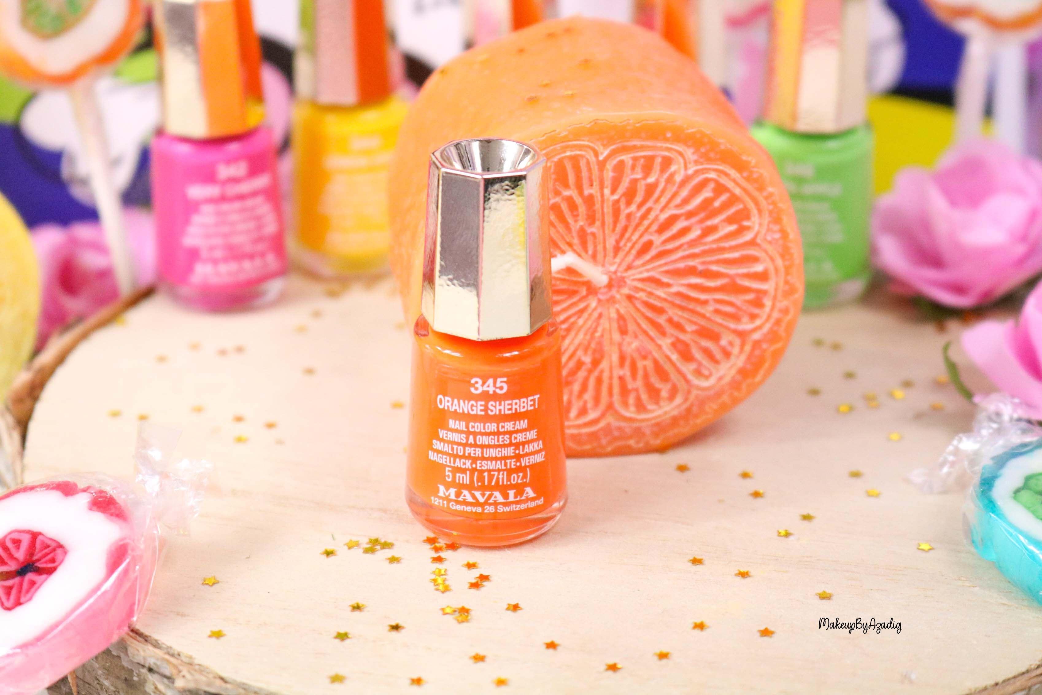 nouvelle-collection-vernis-tendance-printemps-ete-mavala-pas-cher-makeupbyazadig-avis-prix-monoprix-bubble-gum-orange-sorbet