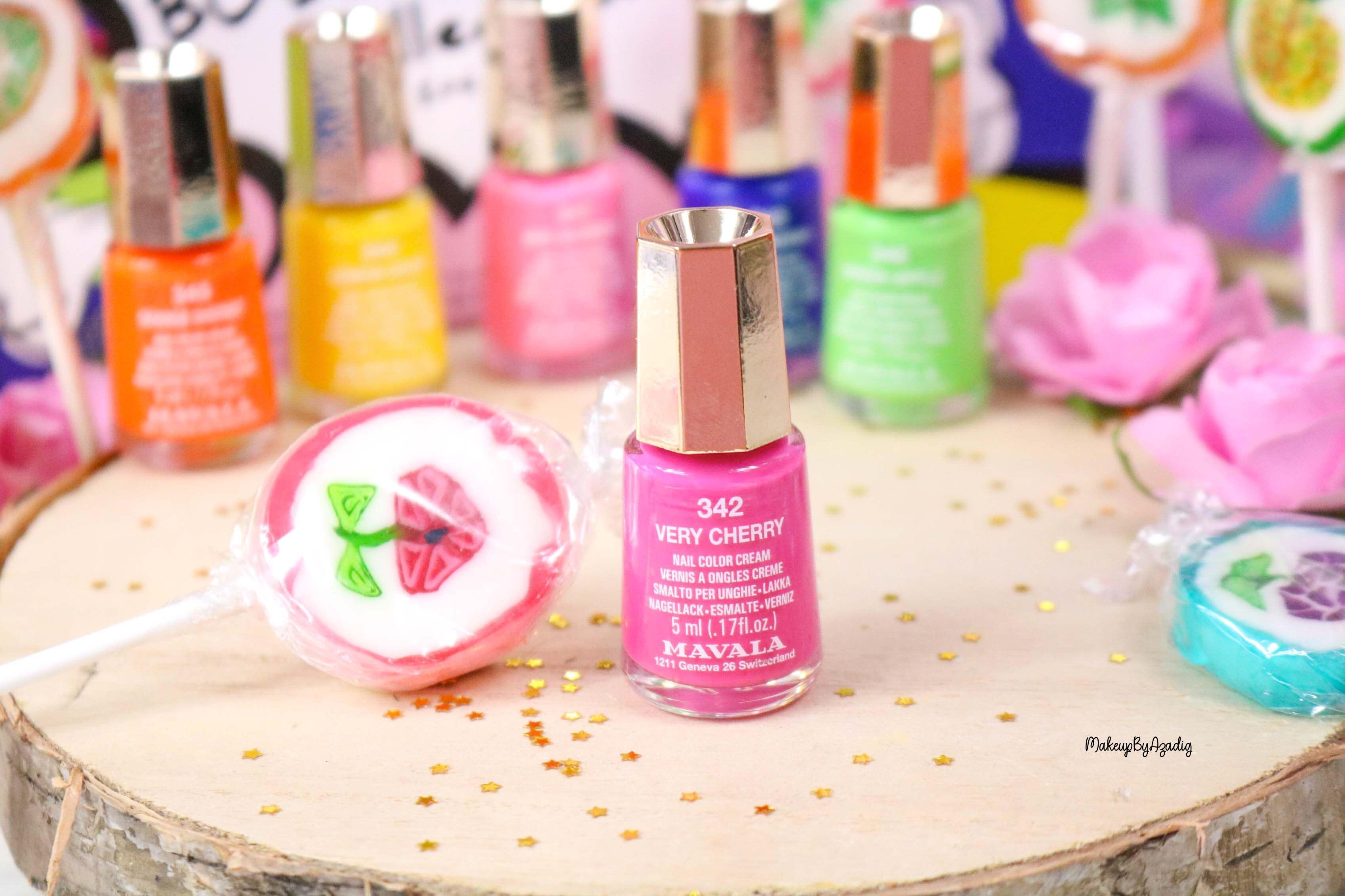 nouvelle-collection-vernis-tendance-printemps-ete-mavala-pas-cher-makeupbyazadig-avis-prix-monoprix-bubble-gum-very-cherry